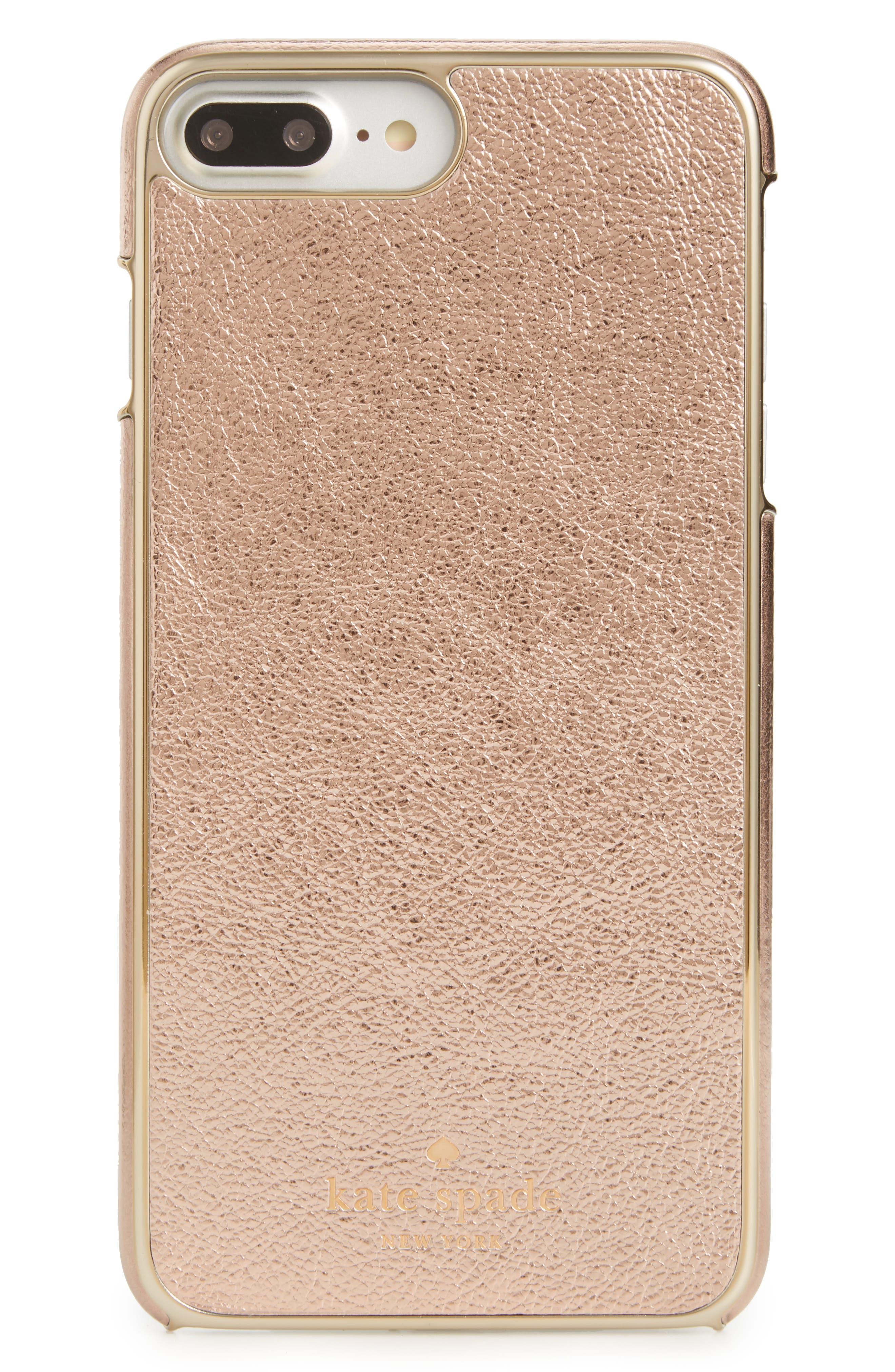 metallic leather iPhone 7/8 Plus case,                         Main,                         color,