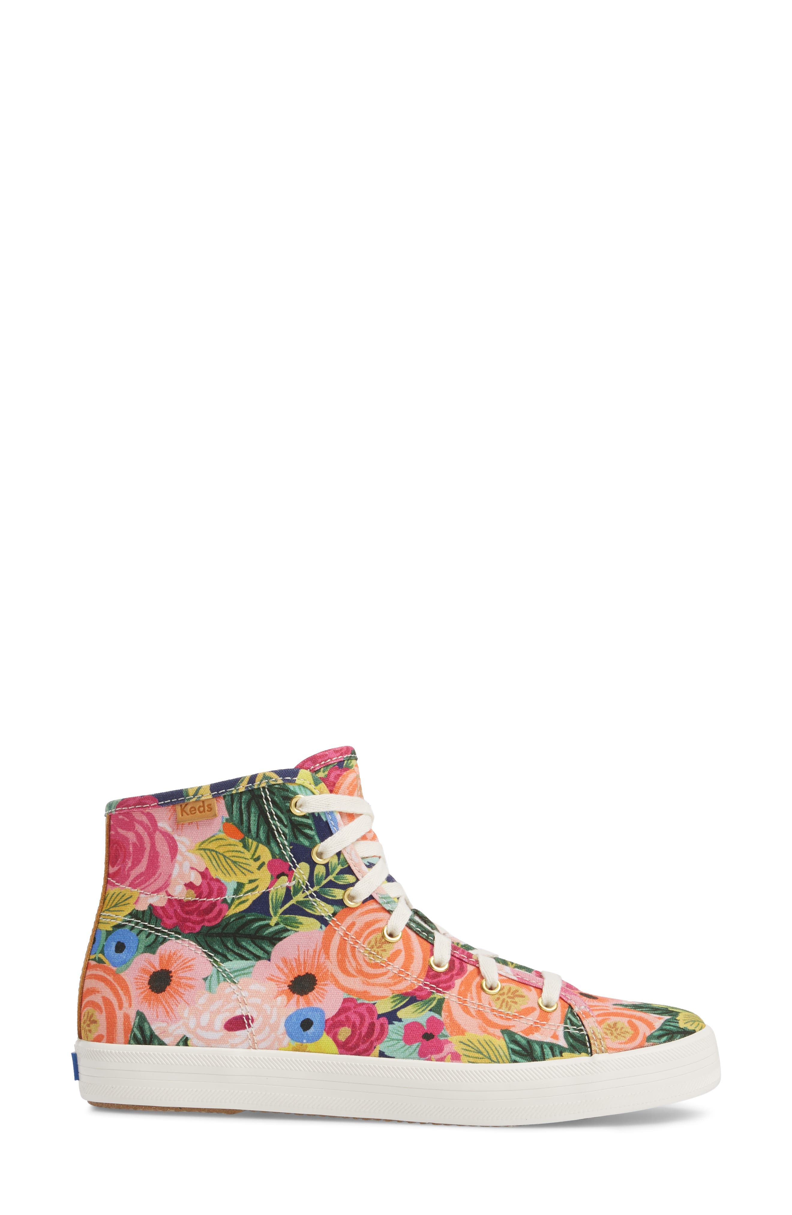 x Rifle Paper Co. Kickstart Julie High Top Sneaker,                             Alternate thumbnail 3, color,                             PINK MULTI