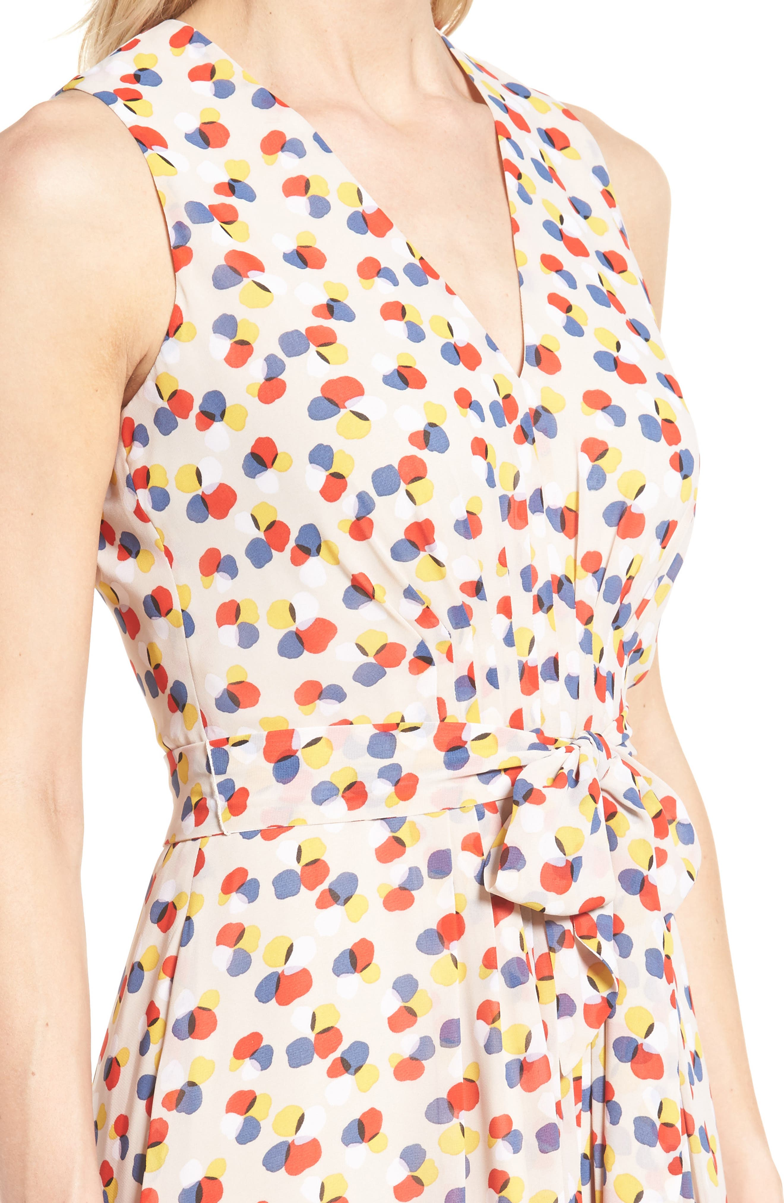 Print Chiffon Dress,                             Alternate thumbnail 4, color,