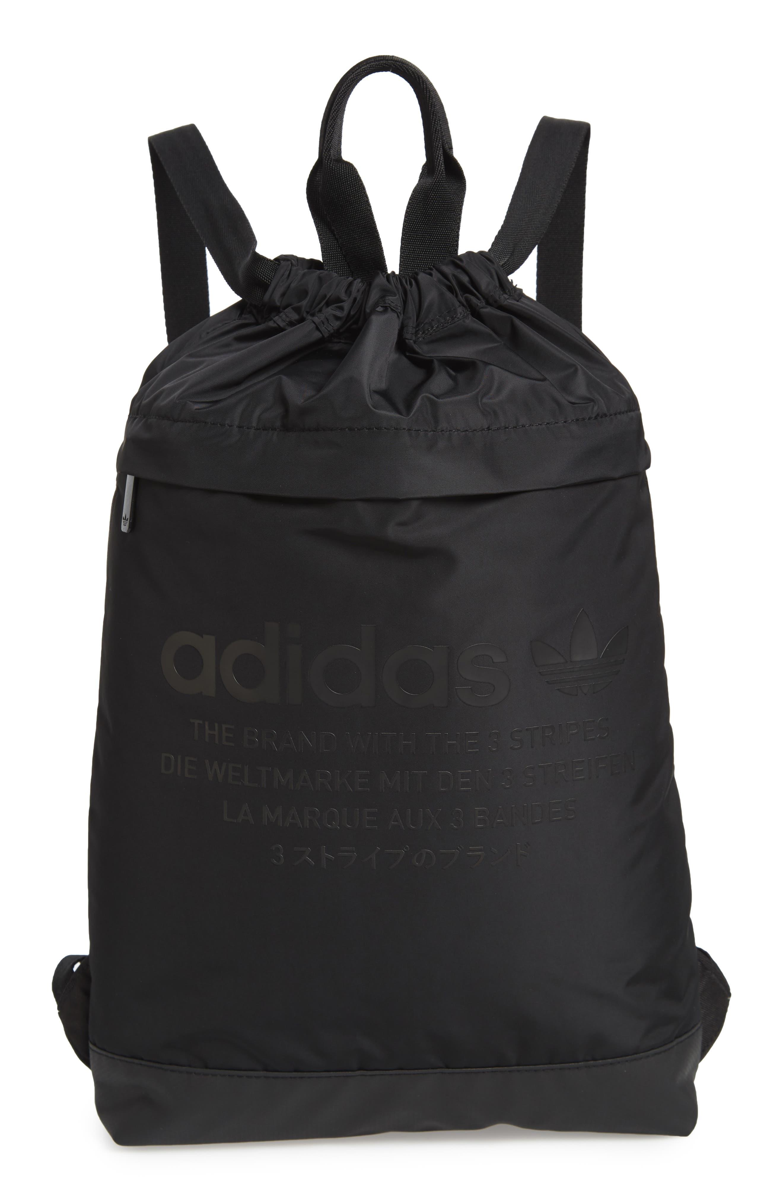 NMD Sack Pack,                             Main thumbnail 1, color,                             BLACK