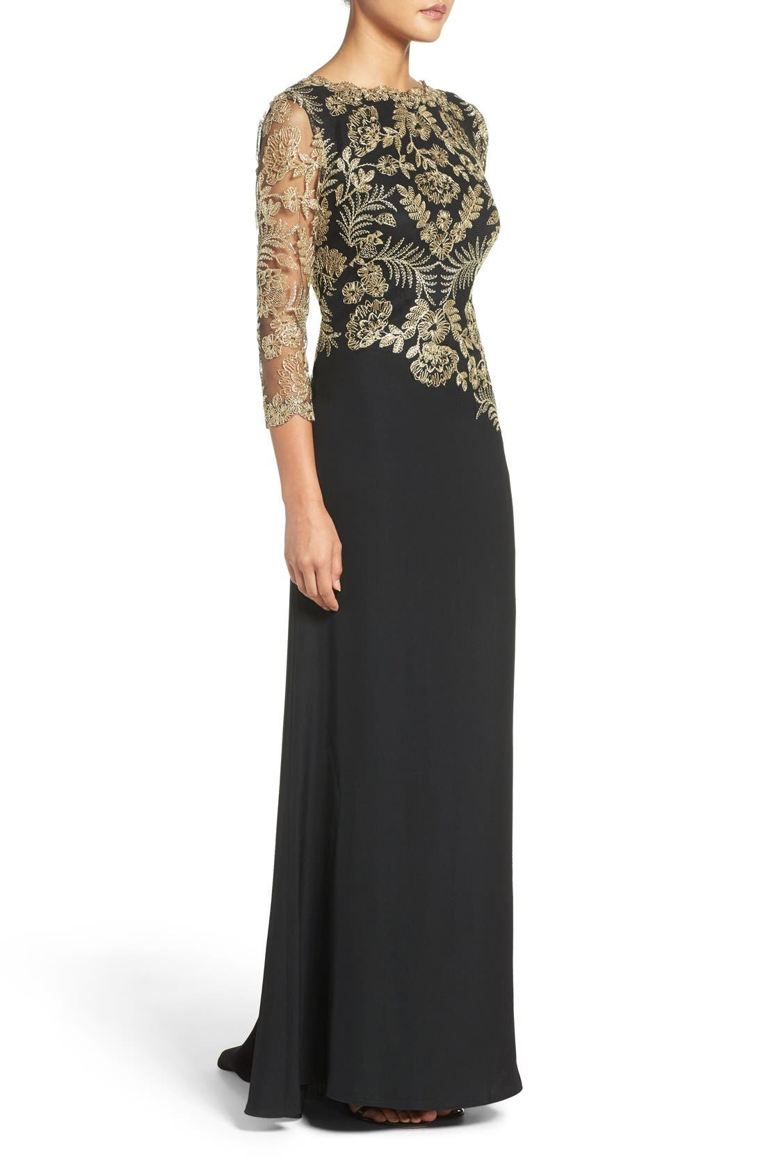 Embroidered Woven Gown,                             Alternate thumbnail 4, color,