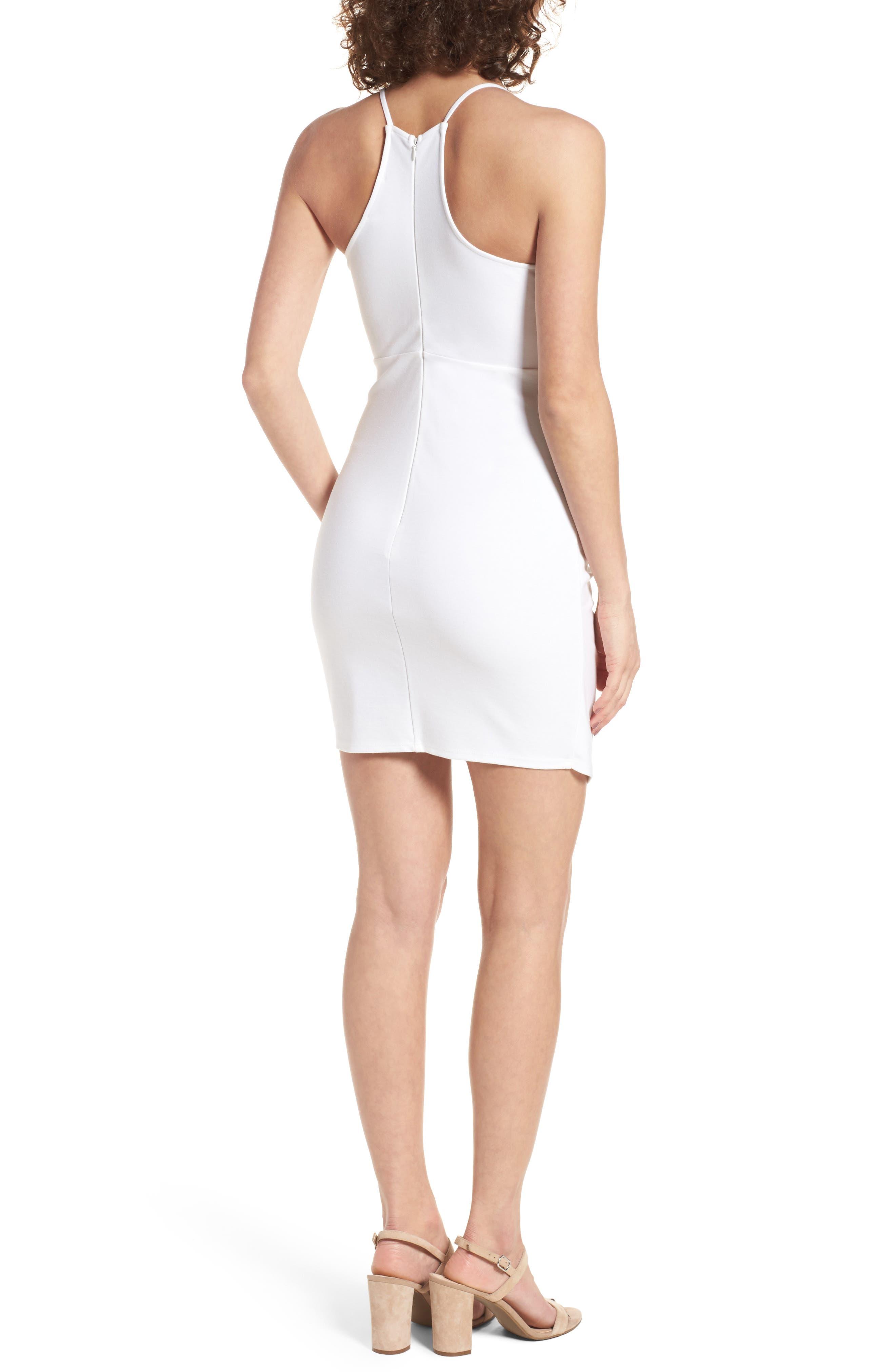 Asymmetrical Body-Con Dress,                             Alternate thumbnail 4, color,
