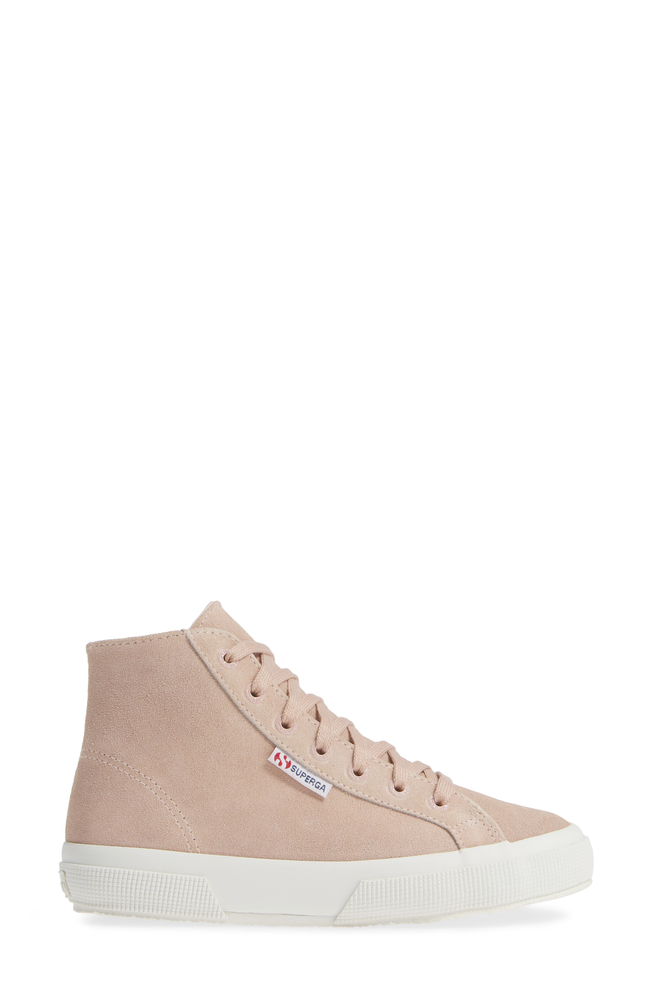 2795 High Top Sneaker,                             Alternate thumbnail 3, color,                             ROSE SUEDE