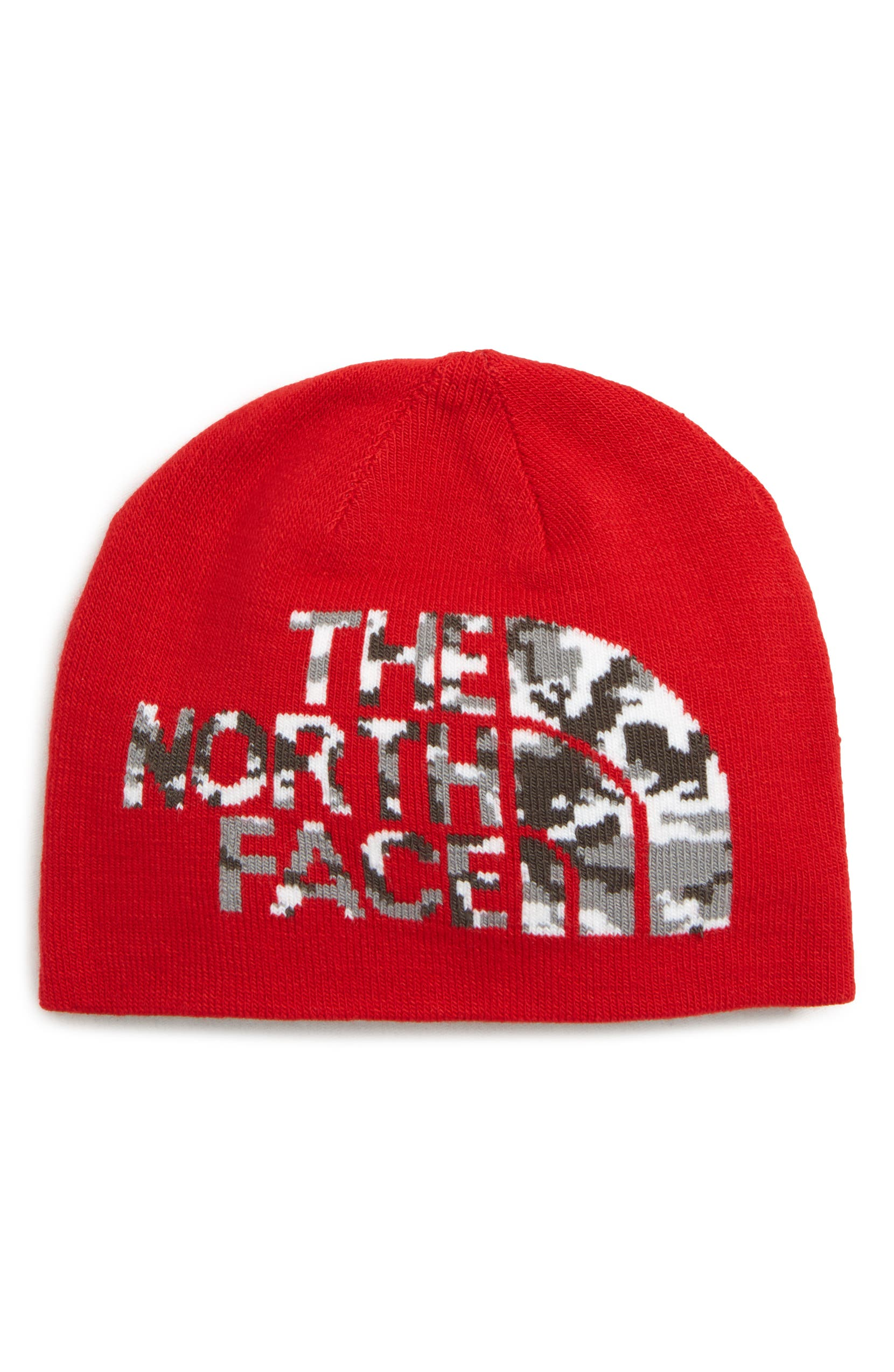 The North Face Anders Logo Reversible Beanie (Big Boys)  c0305edeb
