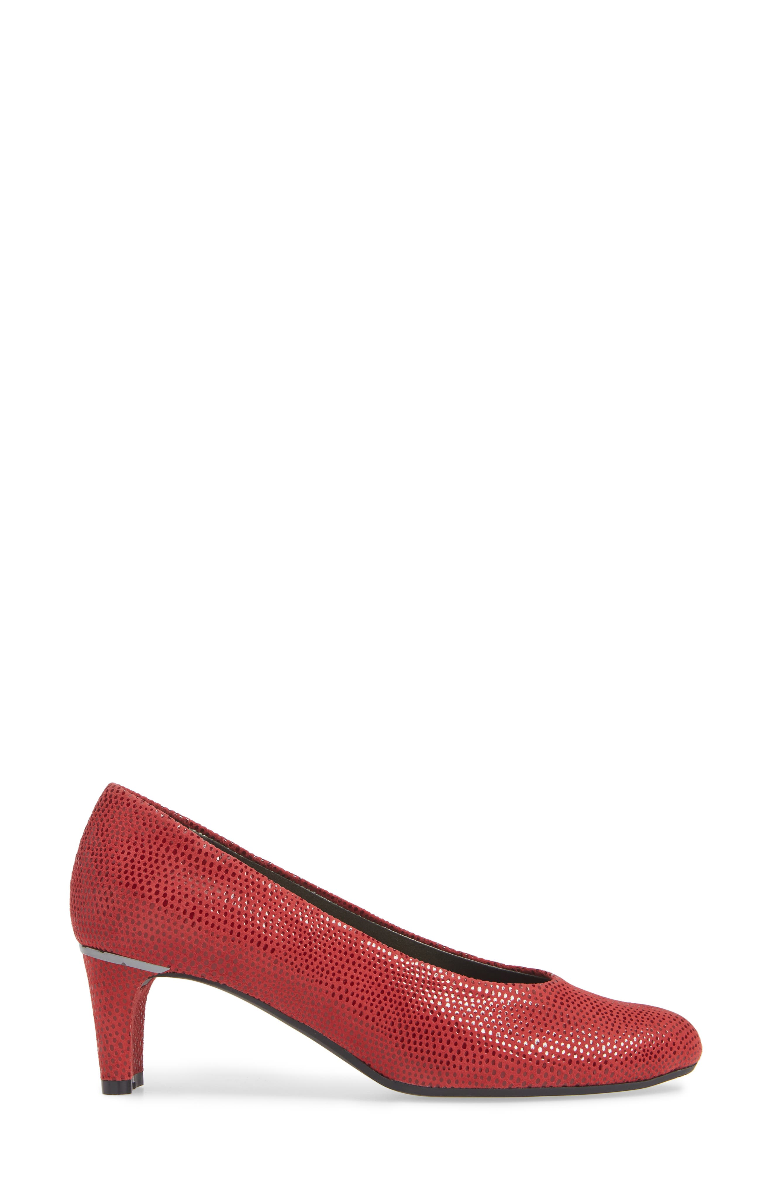 'Dayle' Pump,                             Alternate thumbnail 3, color,                             RED LEATHER