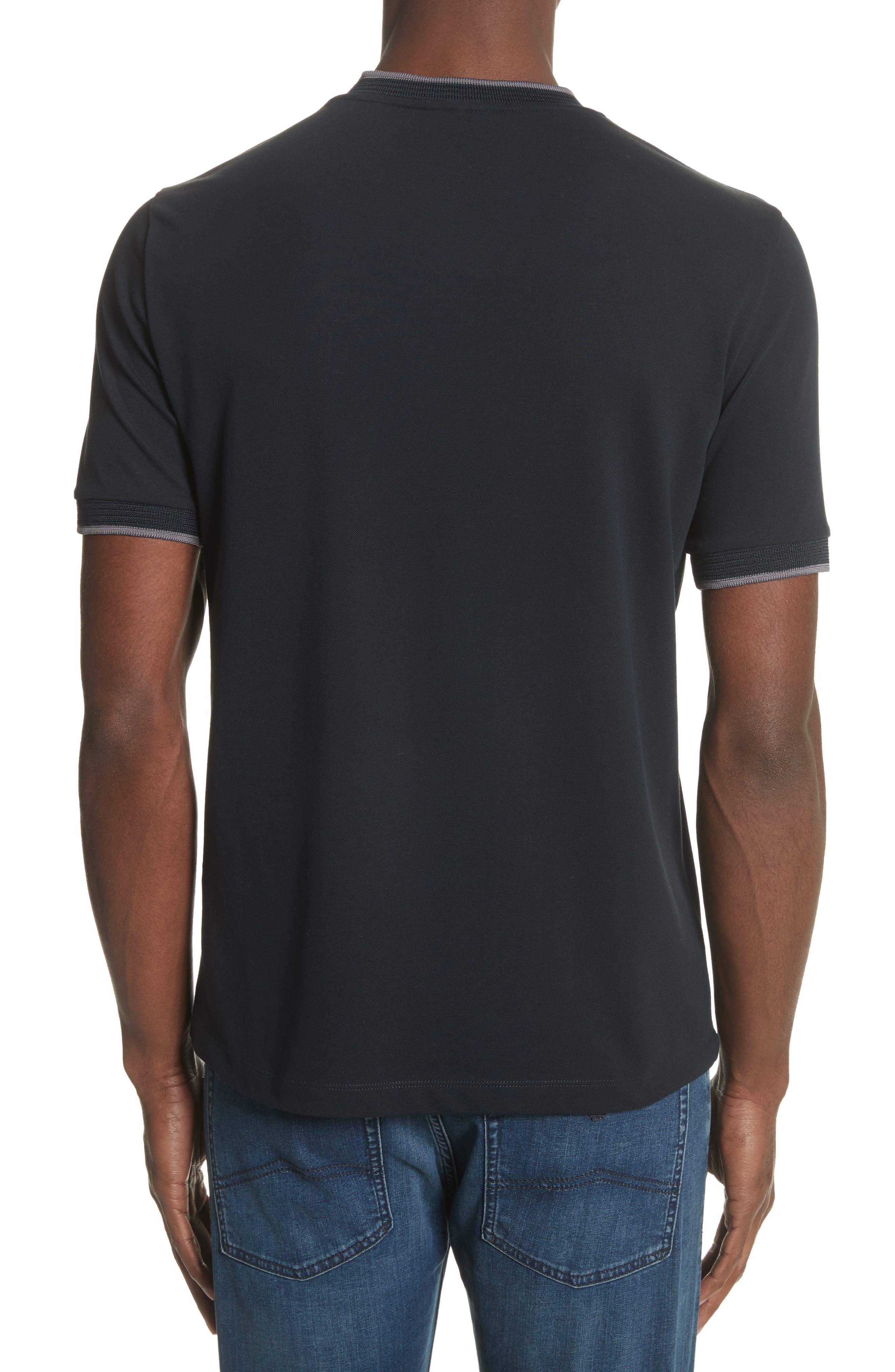 Slim Fit V-Neck Piqué T-Shirt,                             Alternate thumbnail 2, color,                             414