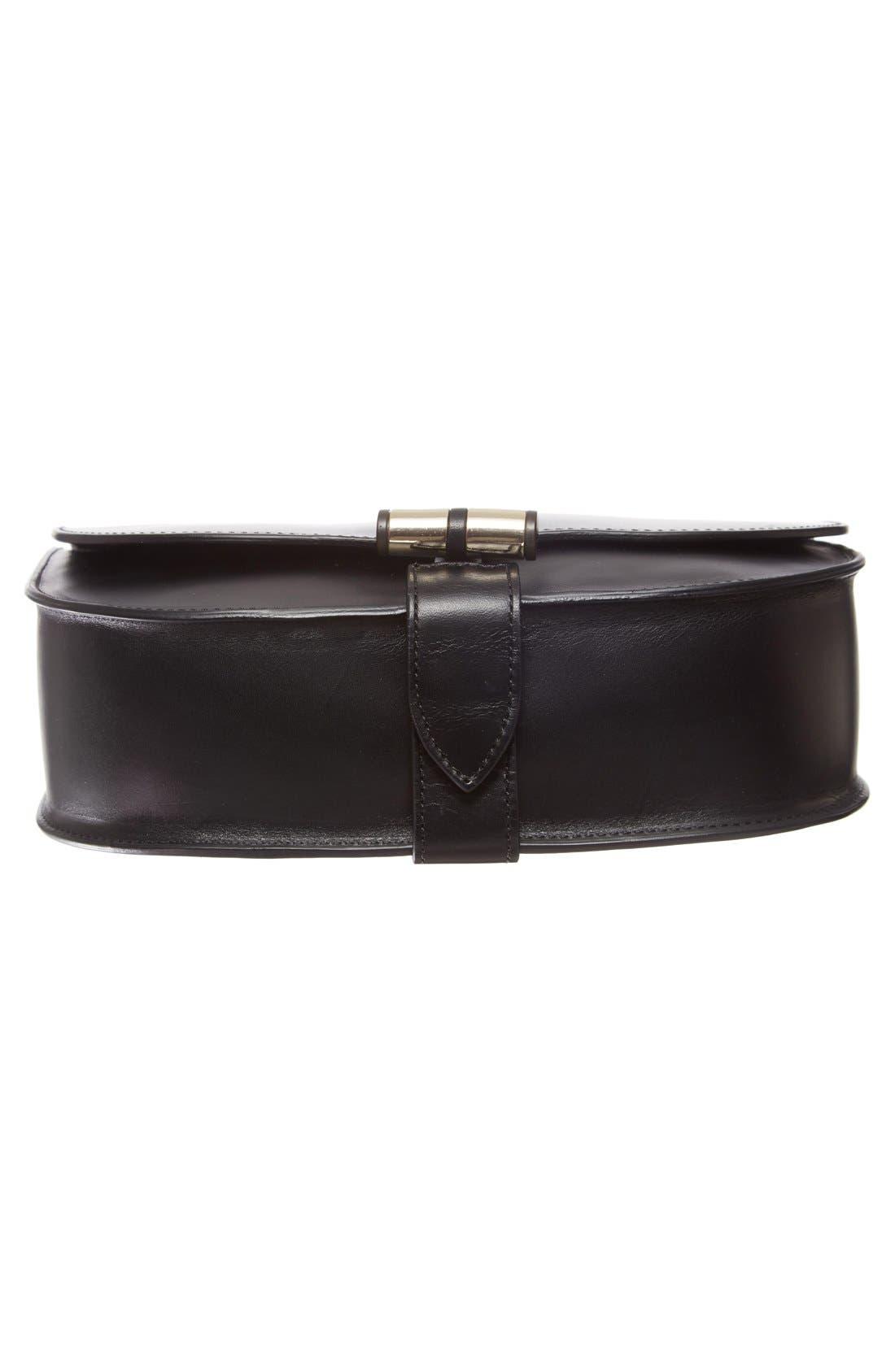 'Sac June' Leather Shoulder Bag,                             Alternate thumbnail 6, color,                             001