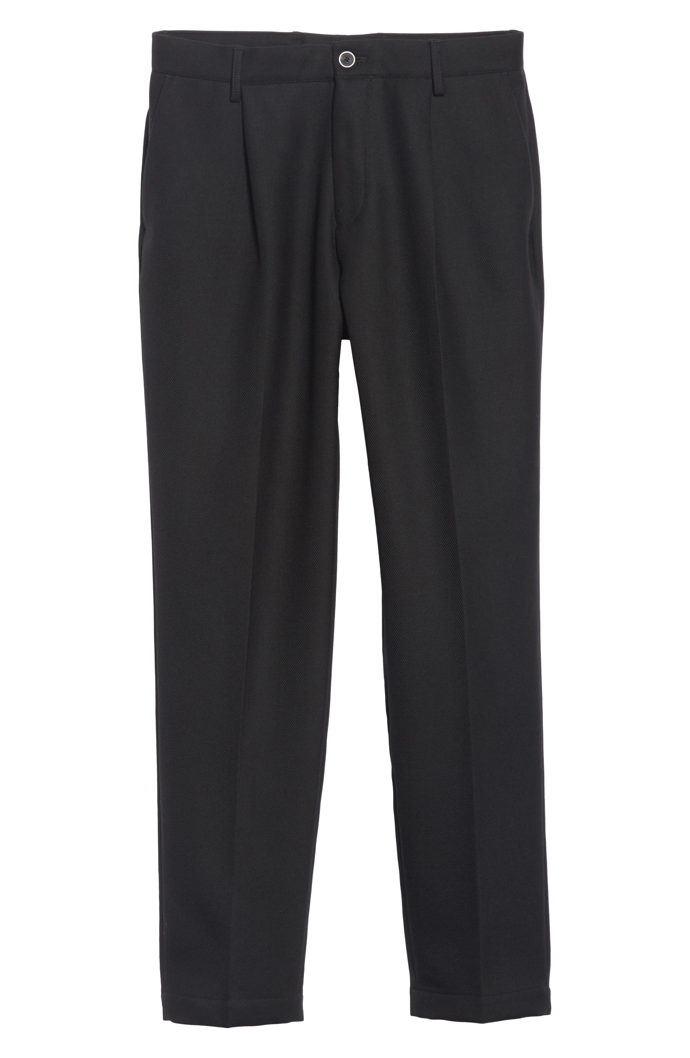 Pleated Pants,                             Alternate thumbnail 6, color,                             BLACK