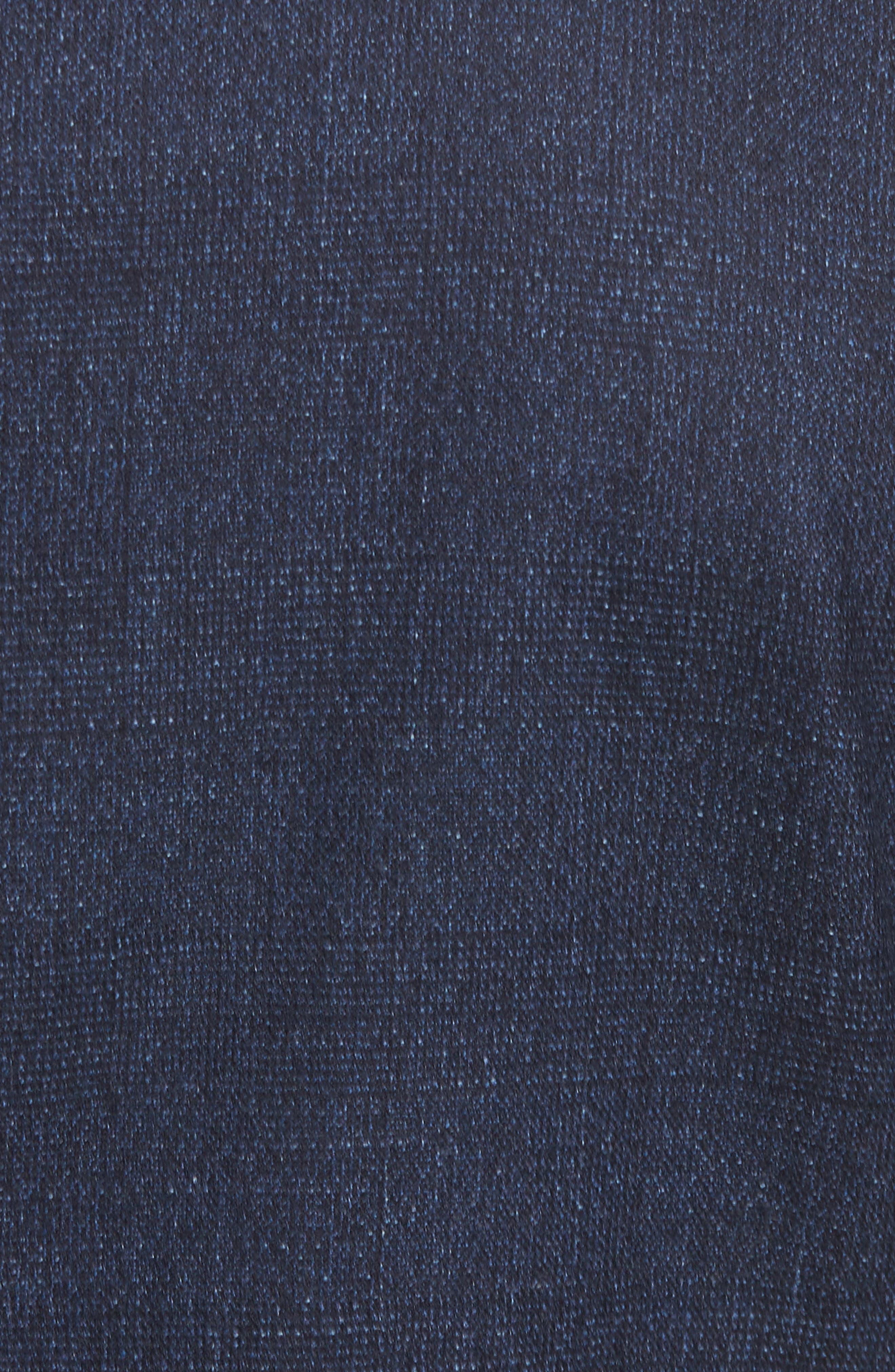 Dannevirk Ghost Check Stretch Wool Blend Blazer,                             Alternate thumbnail 6, color,                             NAVY