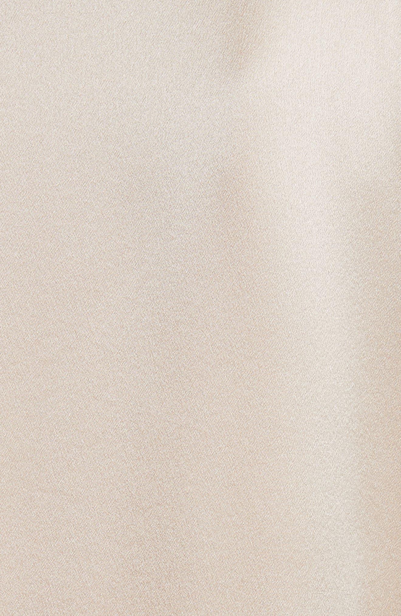Band Collar Silk Blouse,                             Alternate thumbnail 15, color,