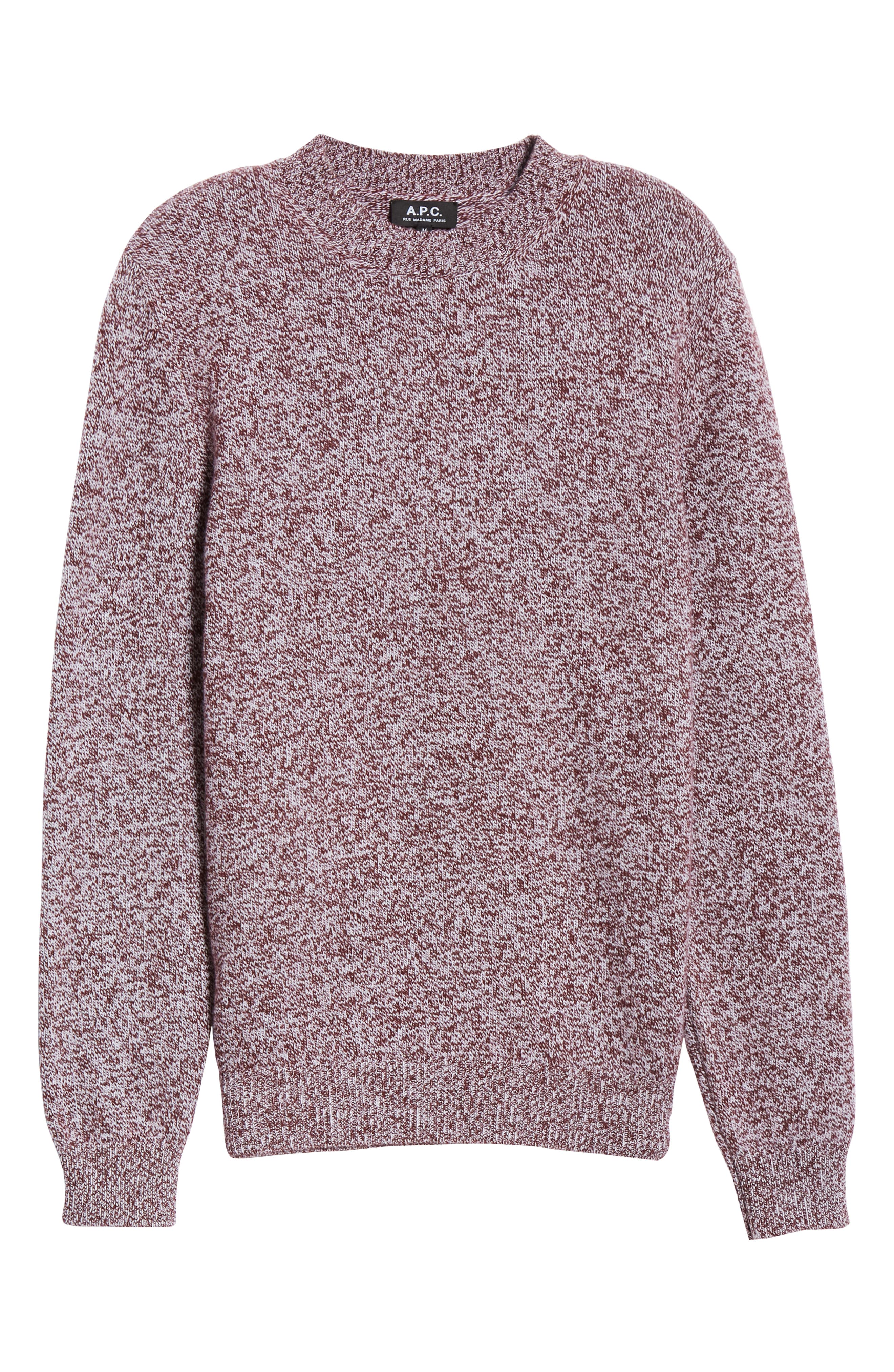 Marble Wool Sweater,                             Alternate thumbnail 6, color,                             602