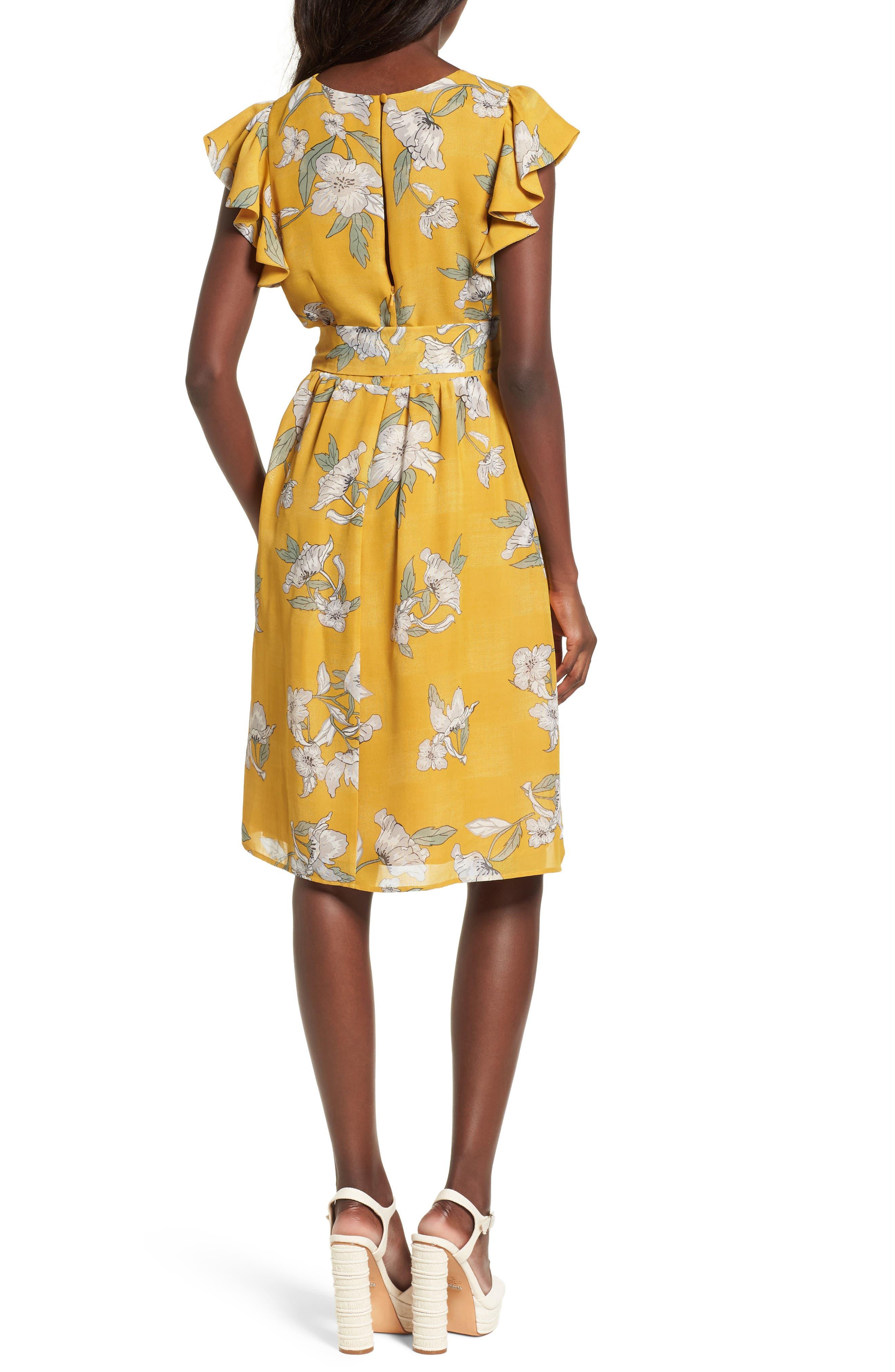 Chriselle x J.O.A. Fit & Flare Dress,                             Alternate thumbnail 2, color,                             700