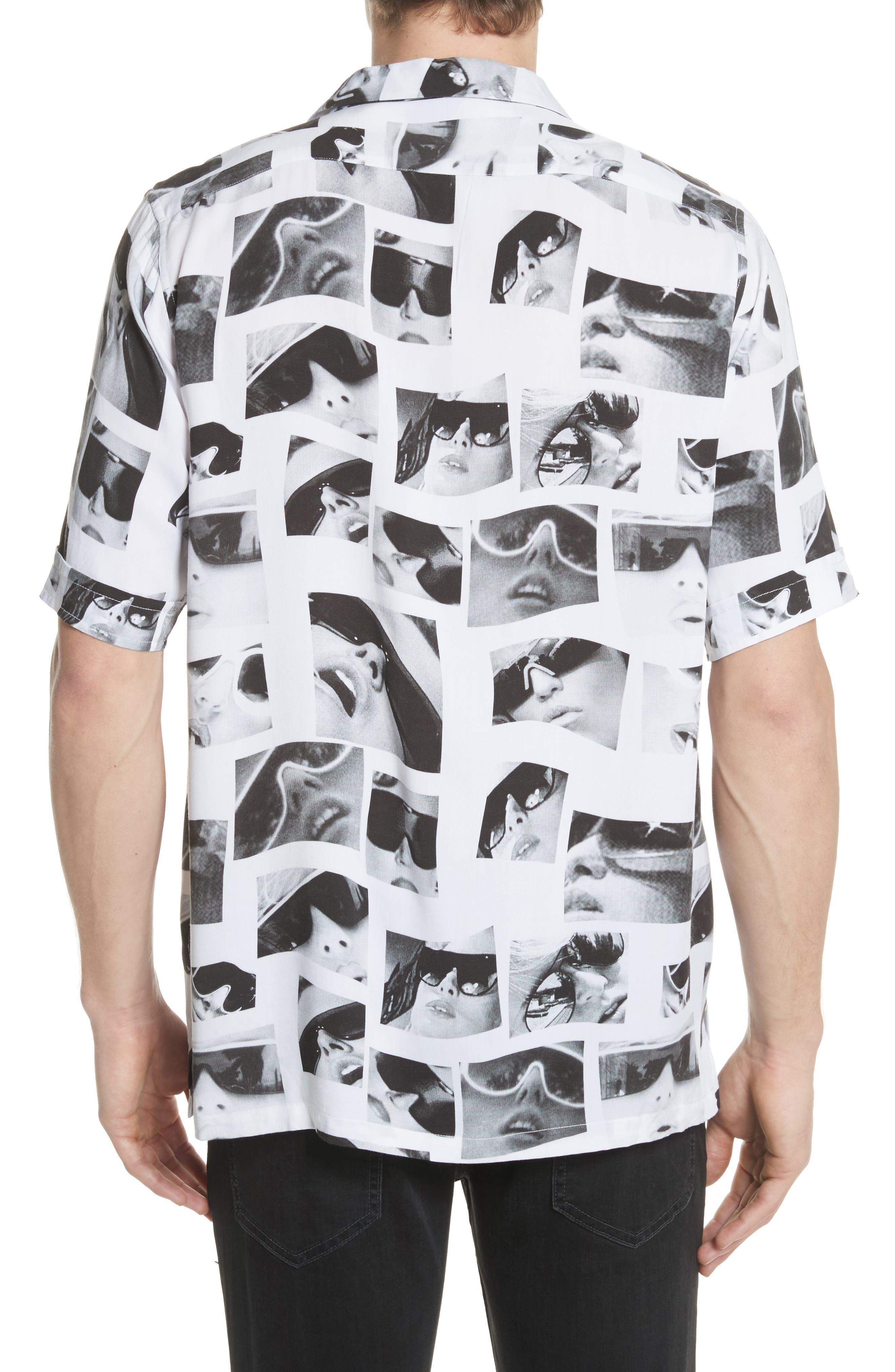 Sedation Eyes Print Camp Shirt,                             Alternate thumbnail 2, color,                             100