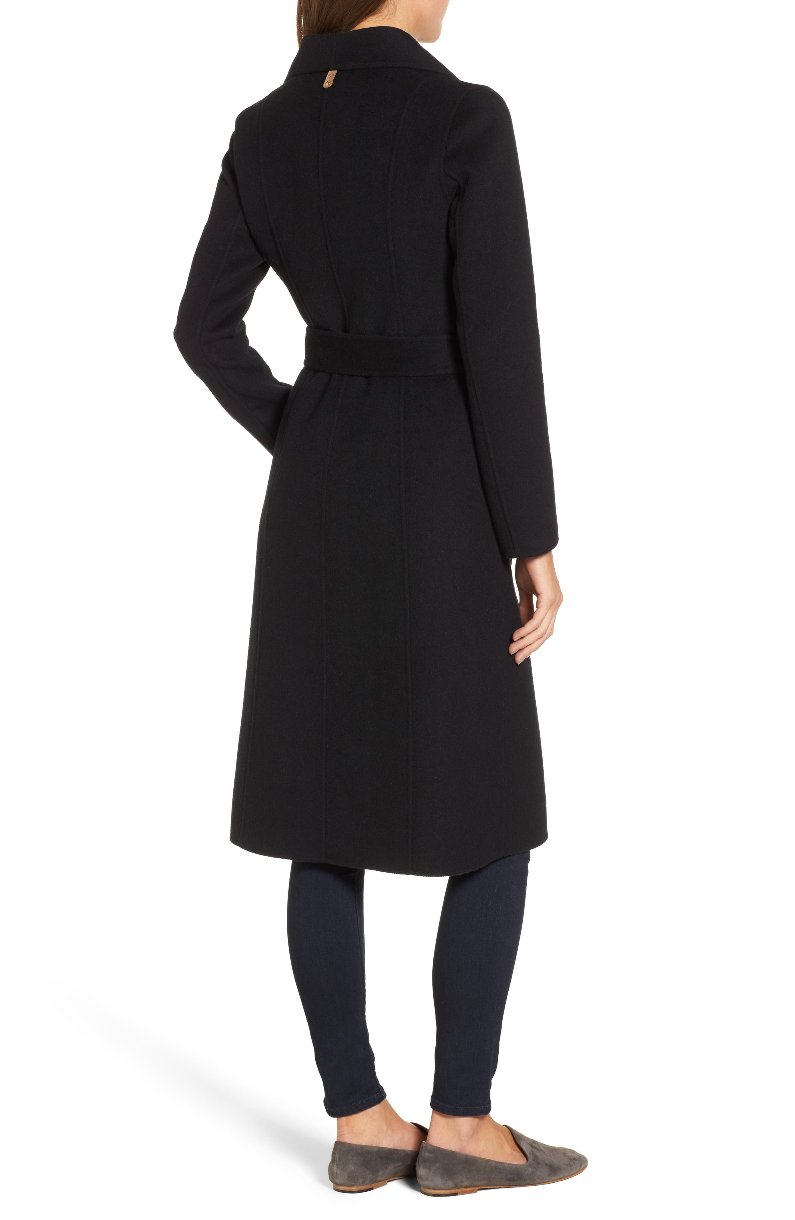 Norah-N Double Breasted Wool Blend Long Military Coat,                             Alternate thumbnail 2, color,                             001
