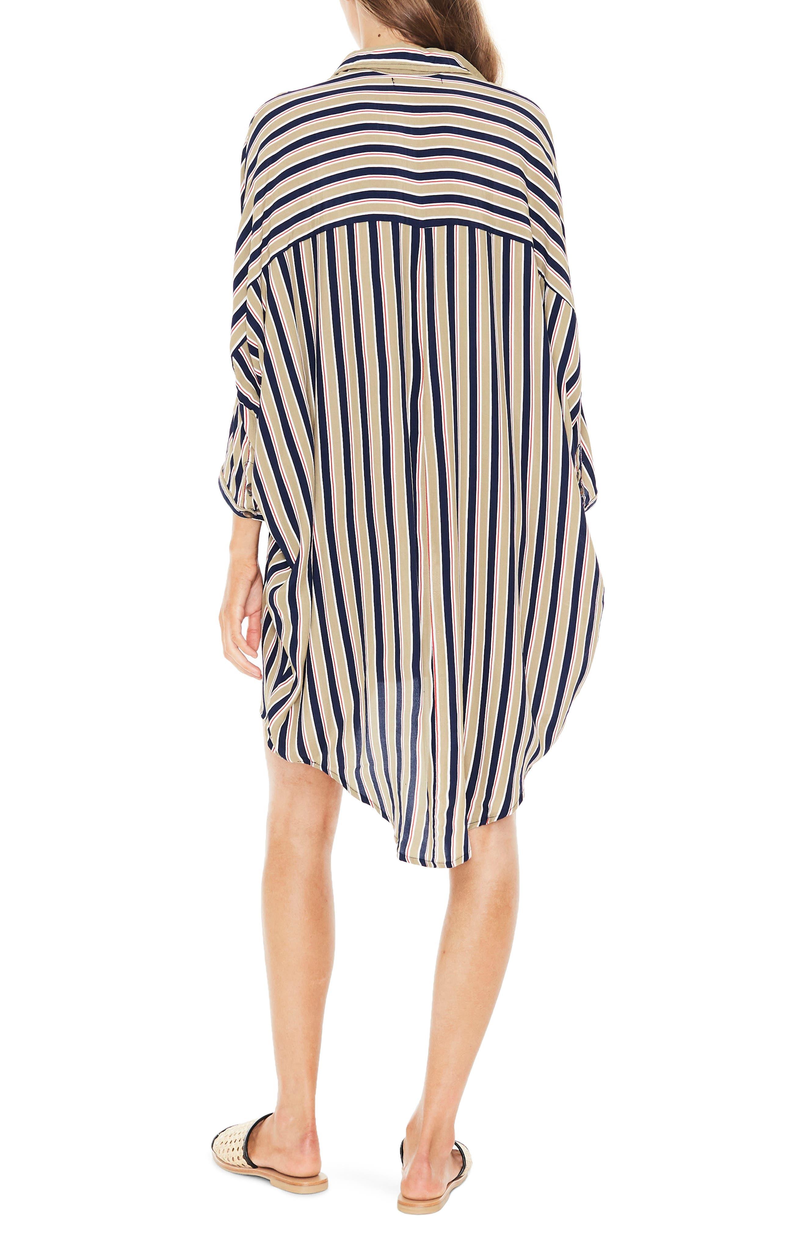 Spencer Stripe Shirtdress,                             Alternate thumbnail 2, color,                             TRENTINI STRIPE PRINT