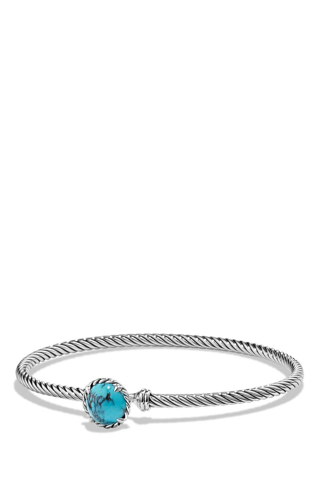 DAVID YURMAN,                             'Châtelaine' Bracelet,                             Main thumbnail 1, color,                             SILVER/ CHINESE TURQUOISE