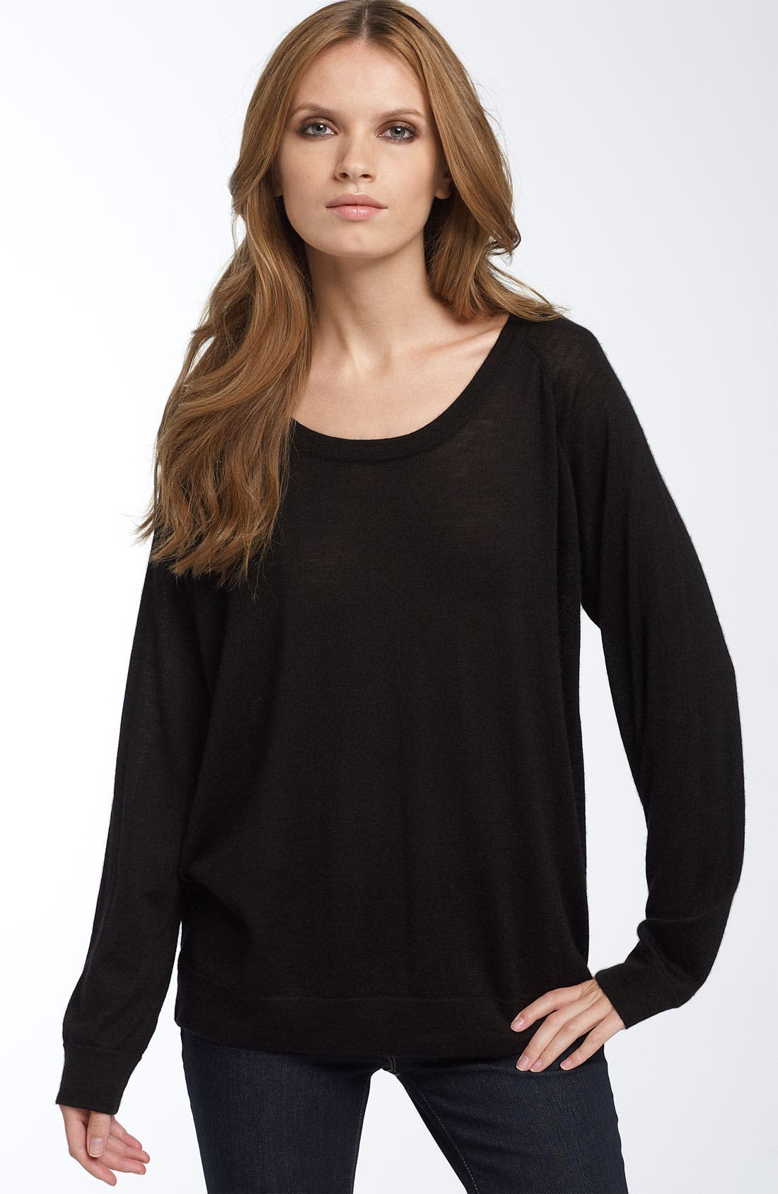 WILSTER Dolman Sleeve Cashmere Sweater, Main, color, 001