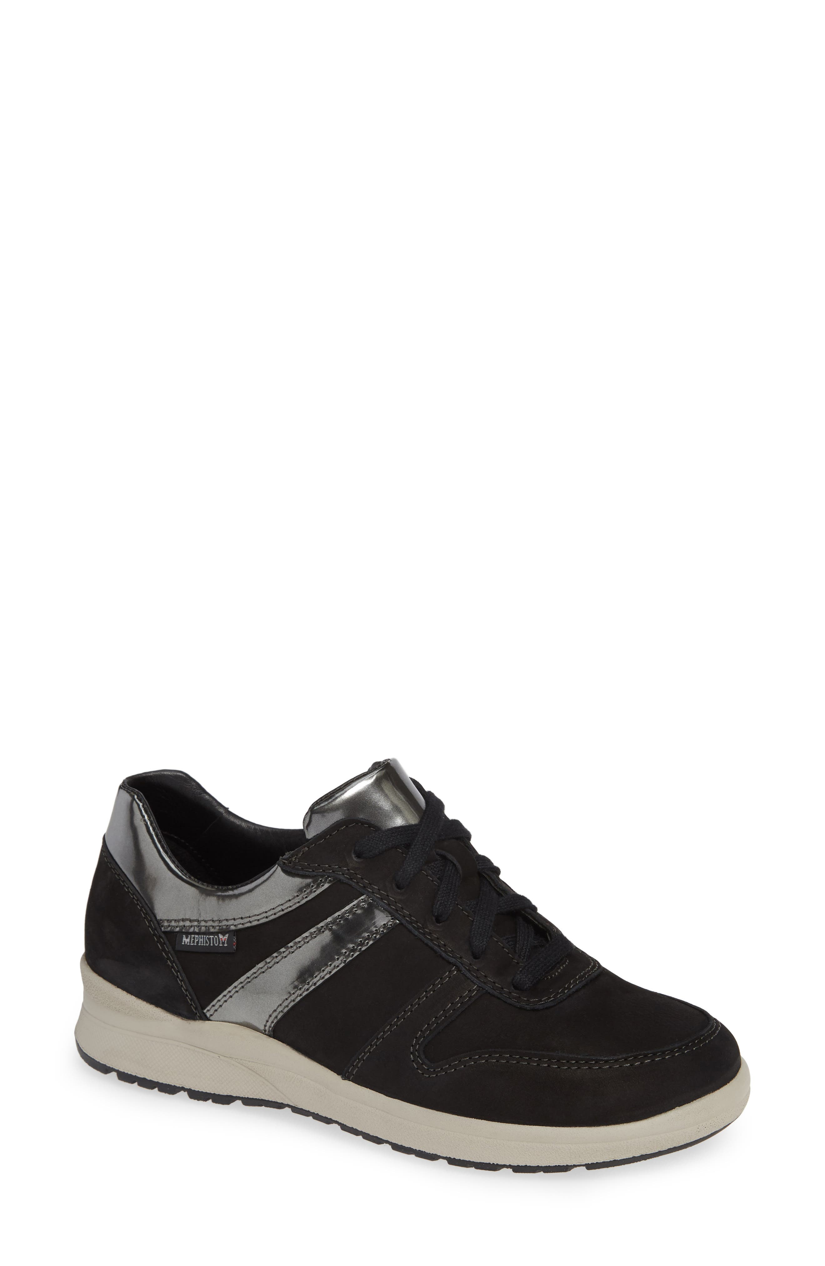 MEPHISTO,                             Rebeca Sneaker,                             Main thumbnail 1, color,                             BLACK FABRIC