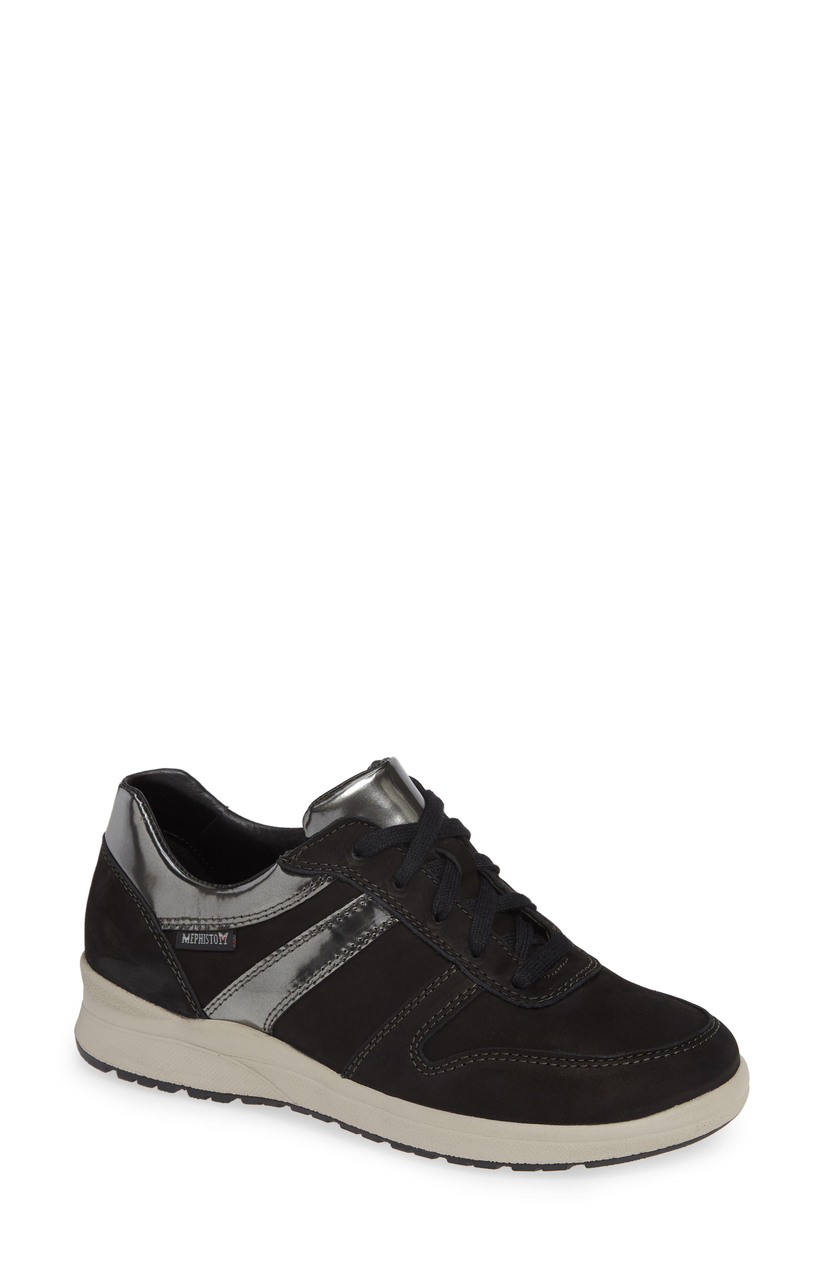 MEPHISTO Rebeca Sneaker, Main, color, BLACK FABRIC