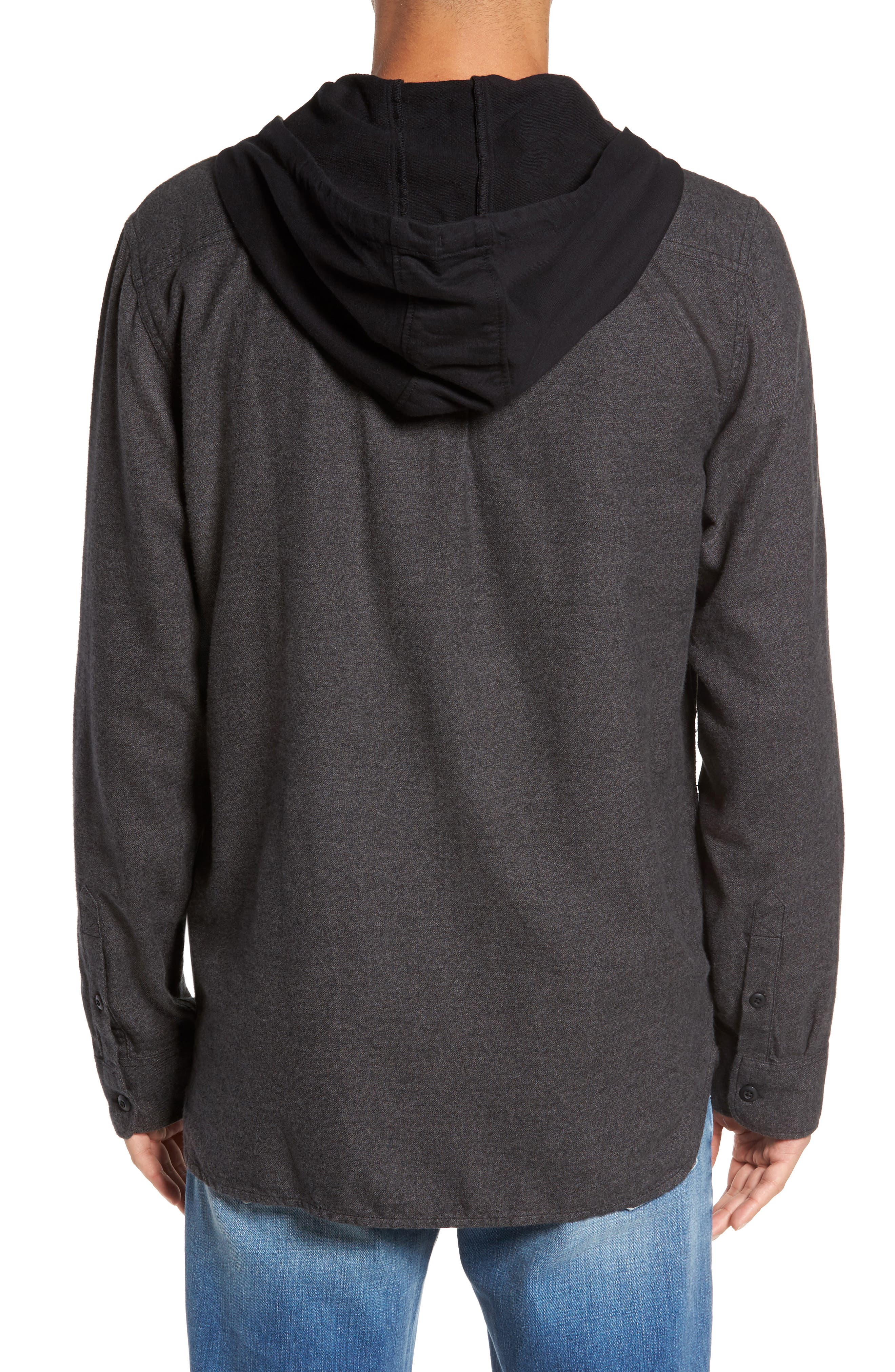 Never Mind Hooded Zip Shirt Jacket,                             Alternate thumbnail 2, color,                             001