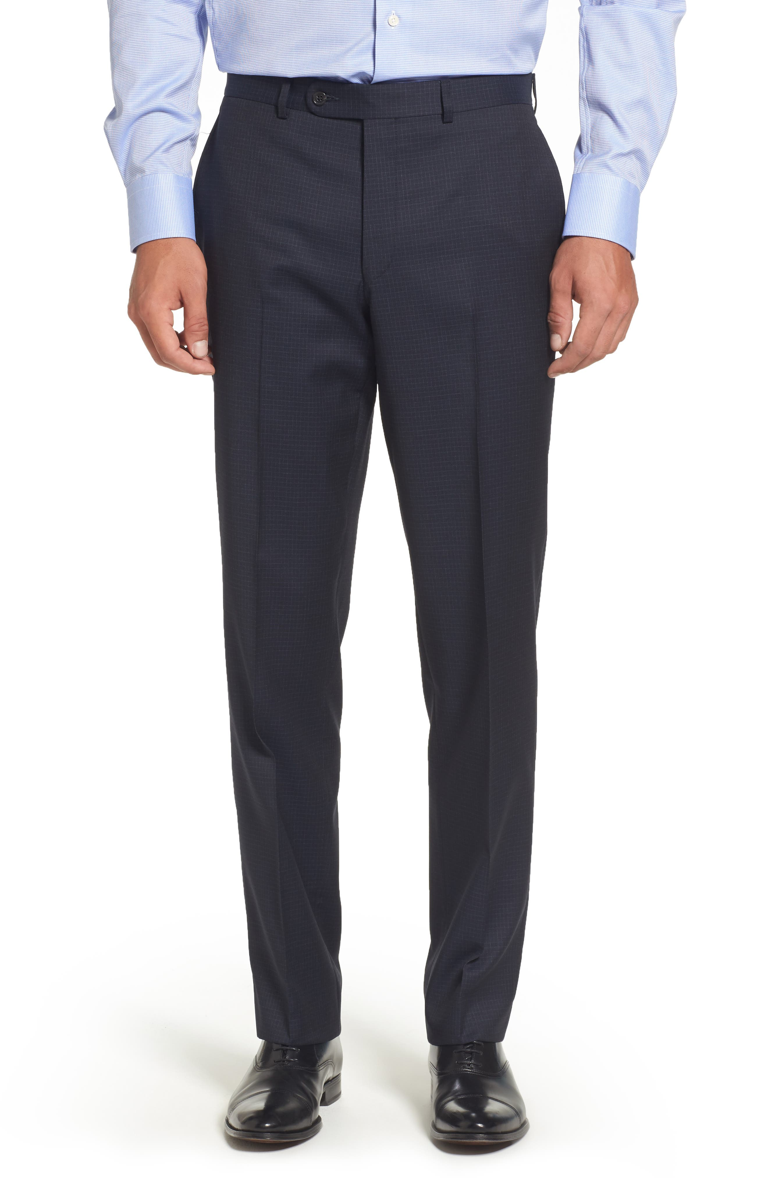 Ryan Classic Fit Check Wool Suit,                             Alternate thumbnail 6, color,                             410