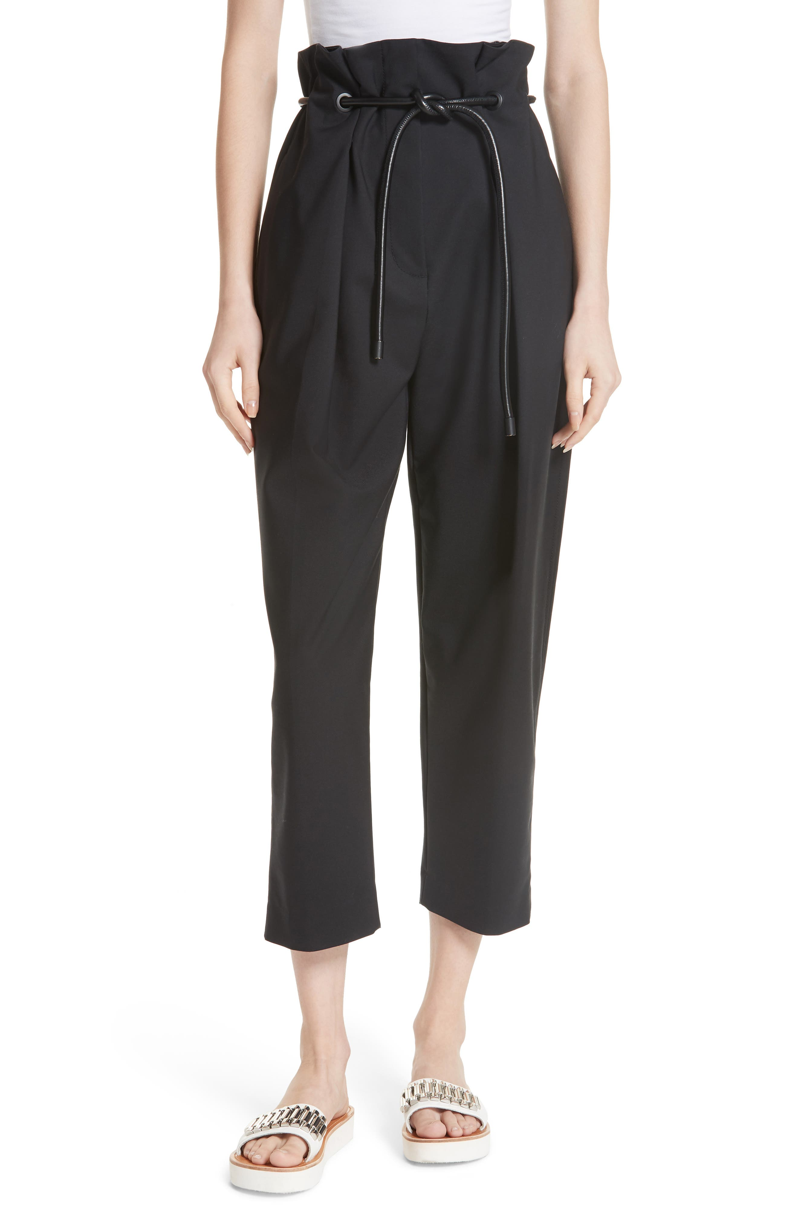 3.1 PHILLIP LIM Origami Crop Flare Pants, Main, color, 001