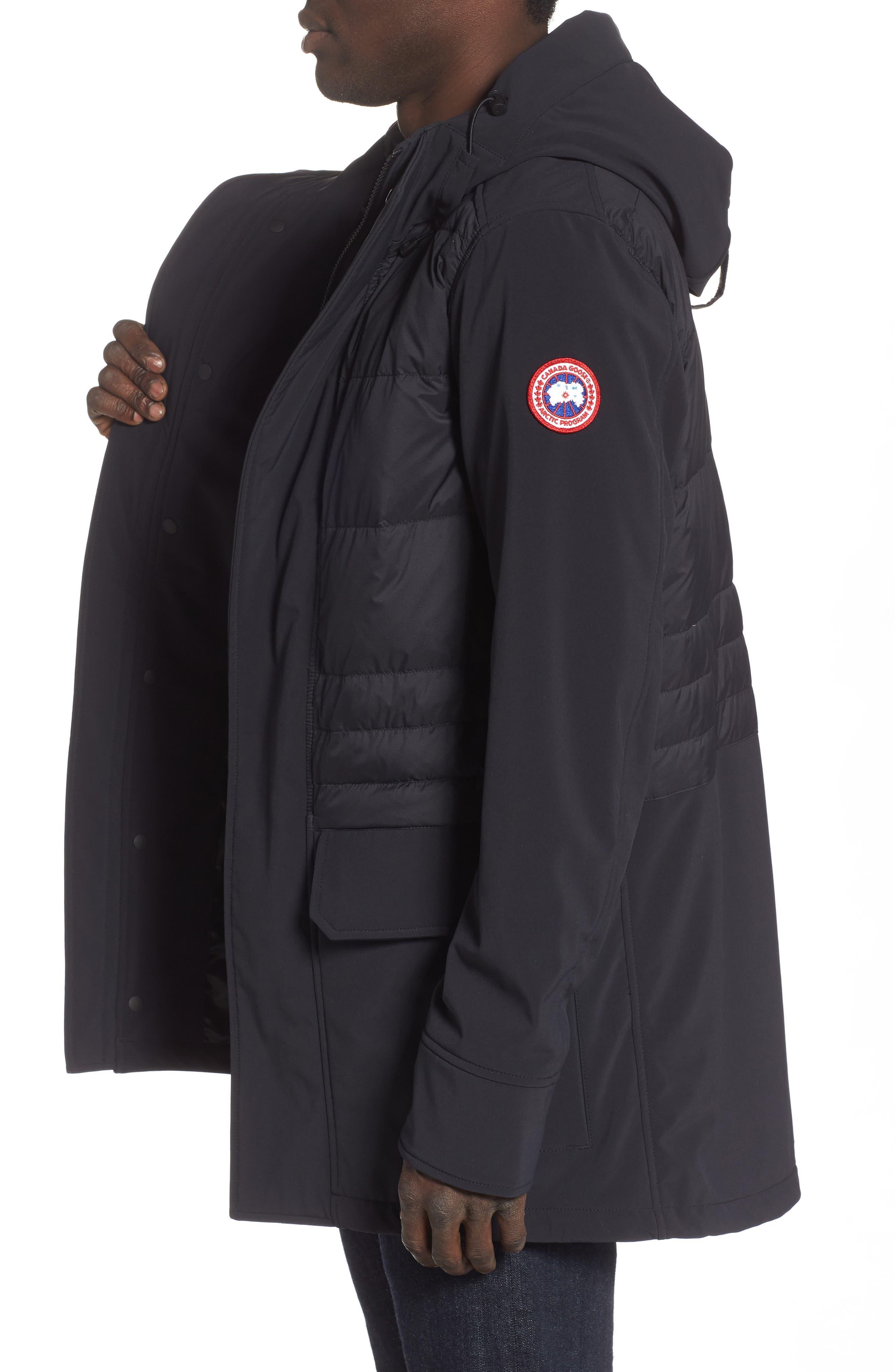 CANADA GOOSE,                             Breton 675-Fill Power Down Coat,                             Alternate thumbnail 3, color,                             BLACK