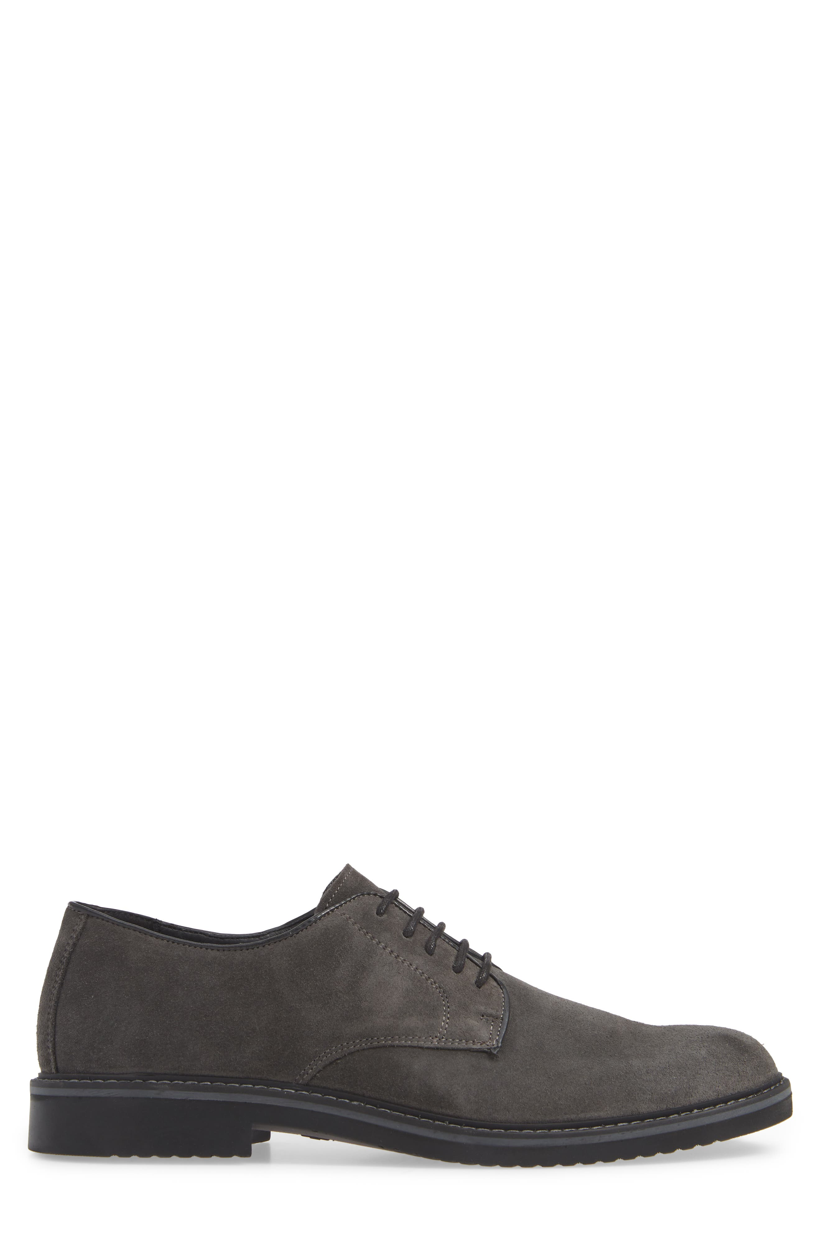 Cardiff Plain Toe Derby,                             Alternate thumbnail 3, color,                             CHARCOAL SUEDE