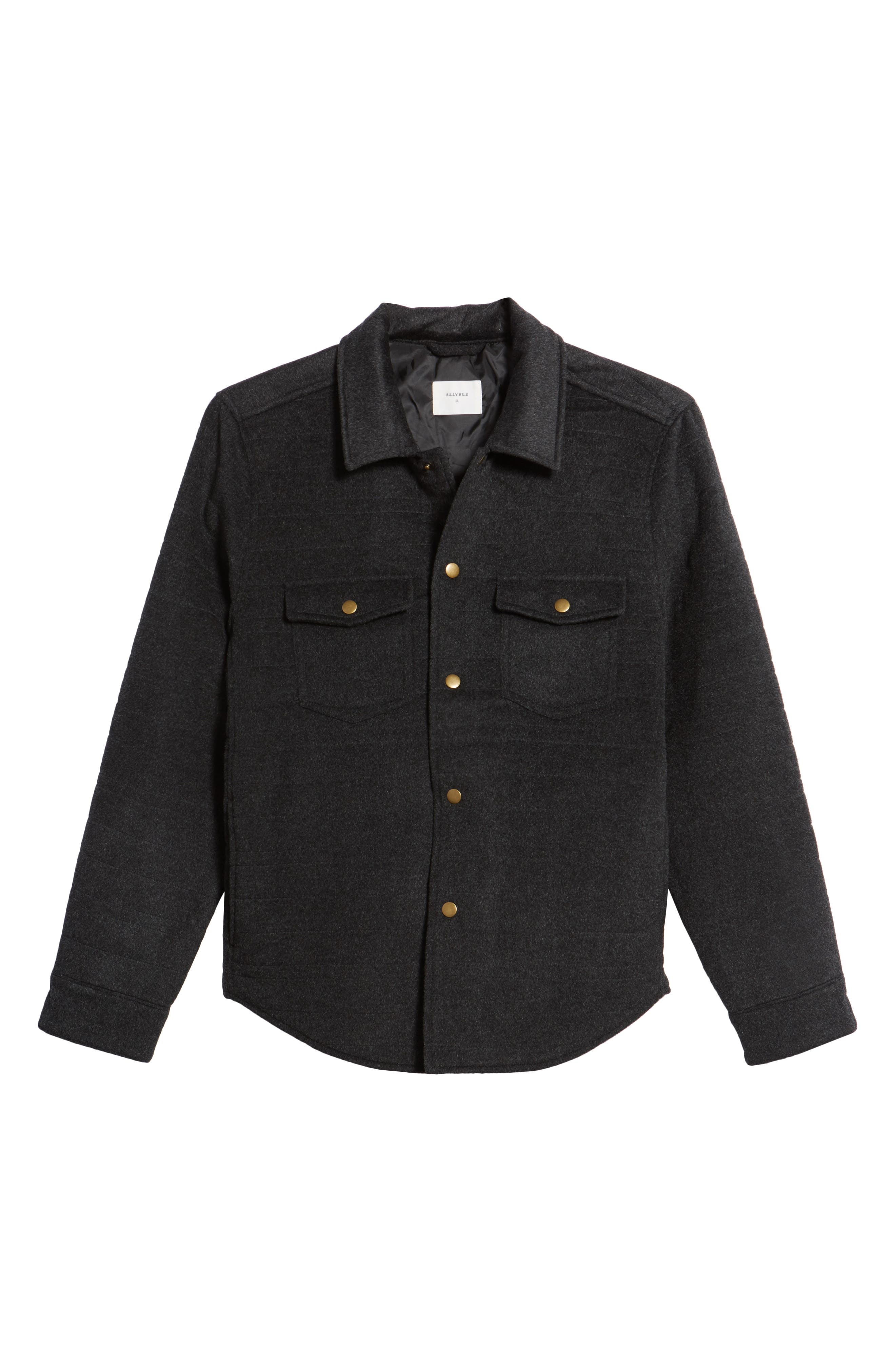 Michael Slim Fit Quilted Shirt Jacket,                             Alternate thumbnail 9, color,