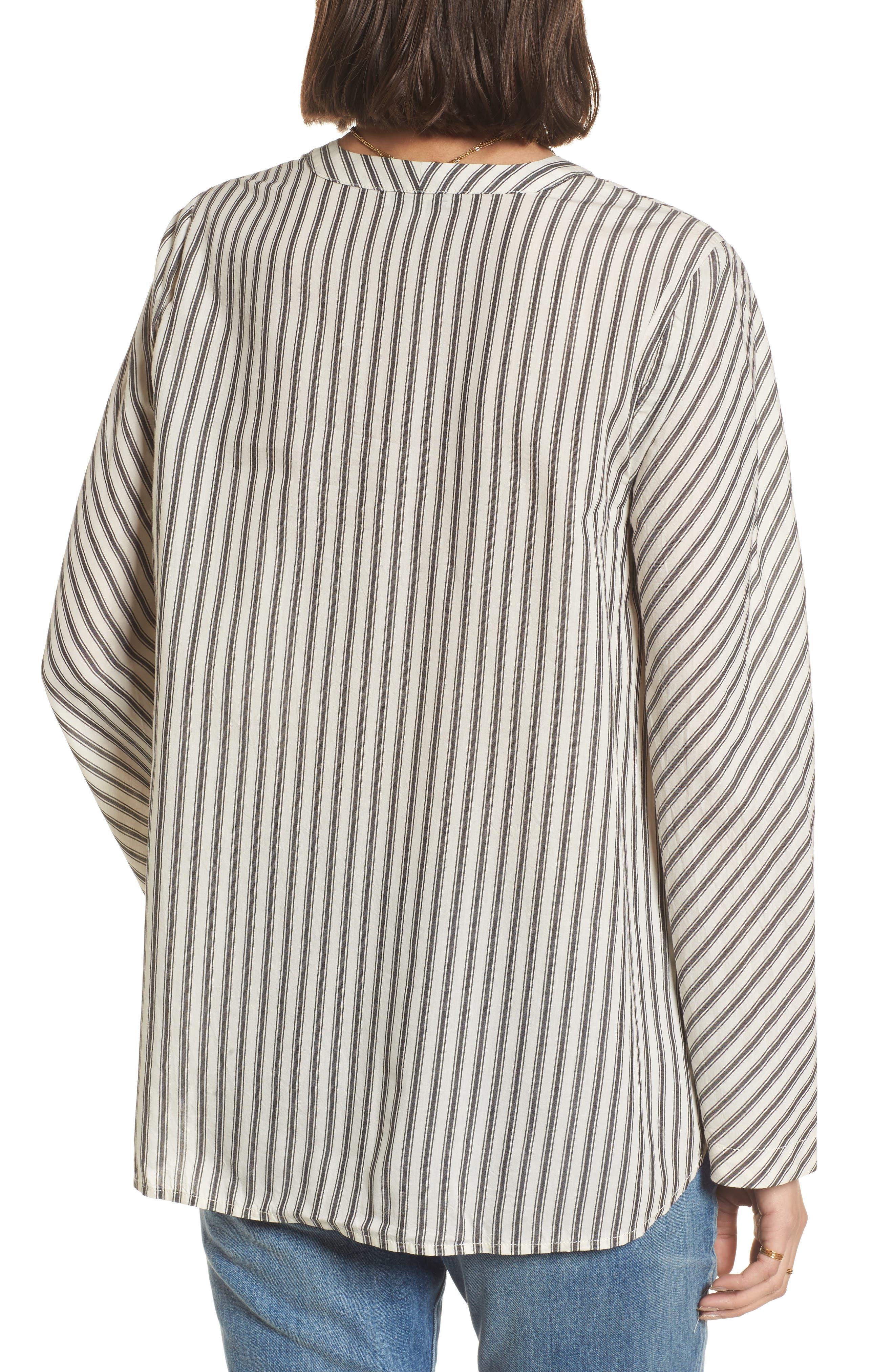 Stripe Flare Sleeve Shirt,                             Alternate thumbnail 2, color,                             190