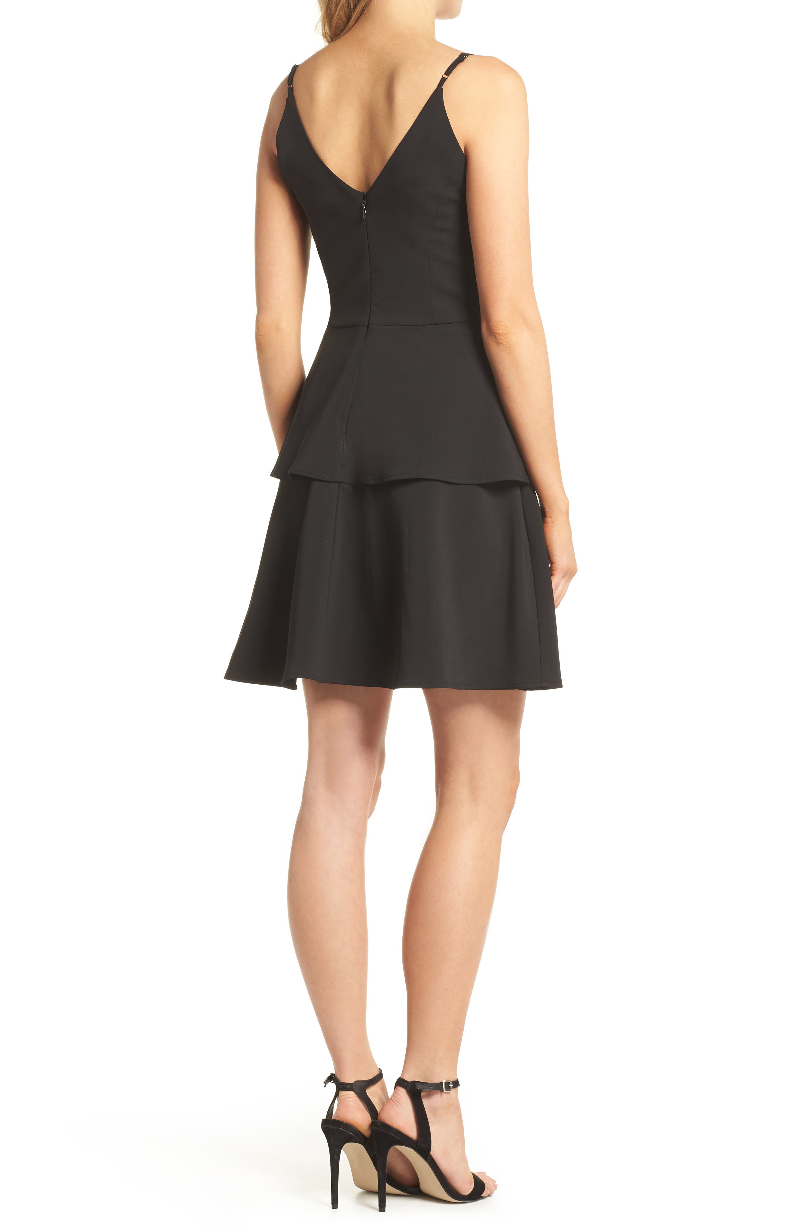 Tamika Sleeveless Fit & Flare Dress,                             Alternate thumbnail 2, color,                             001