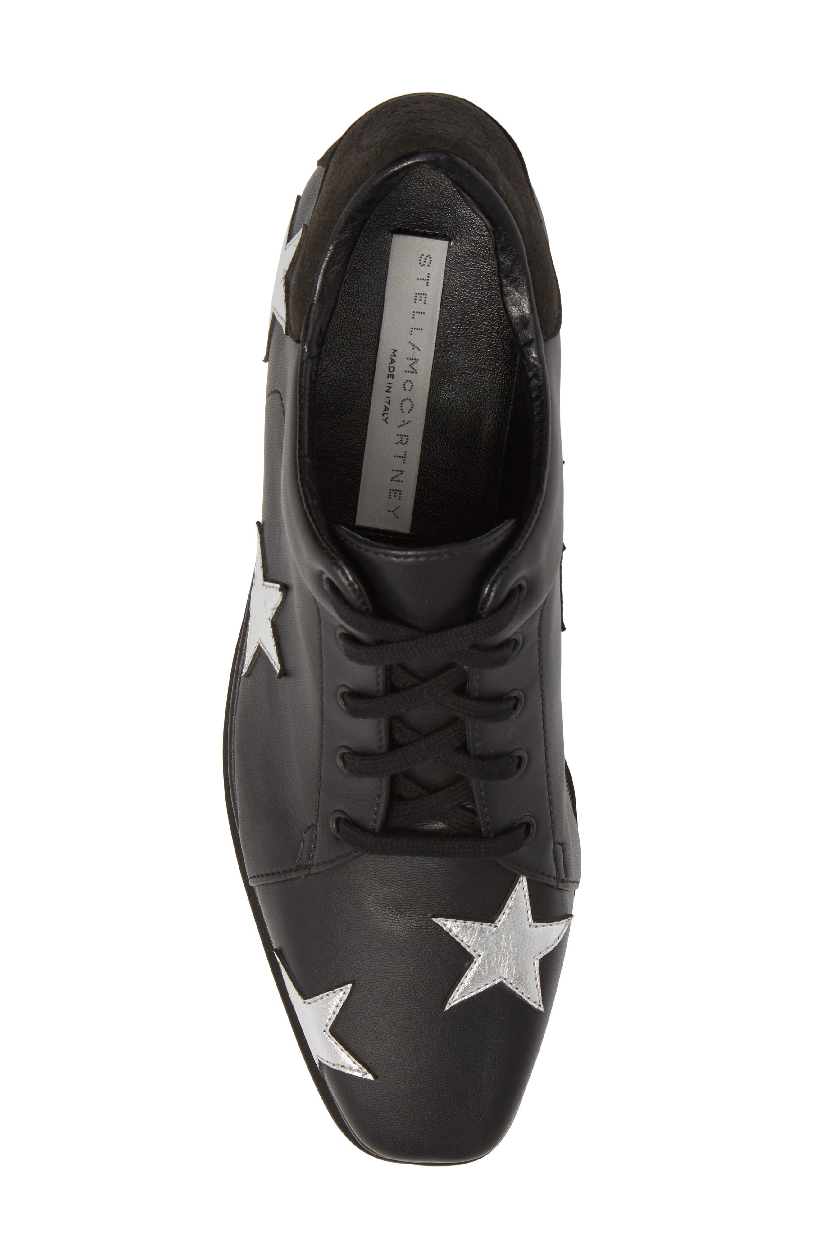 Elyse Platform Sneaker,                             Alternate thumbnail 5, color,                             BLACK