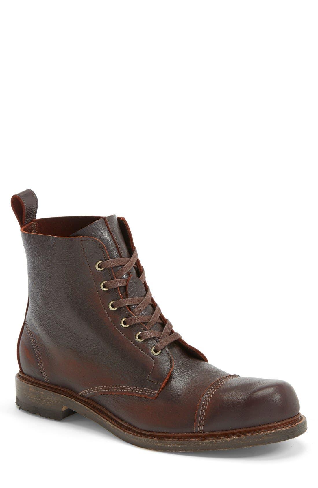 'Normandy' Cap Toe Boot, Main, color, 200