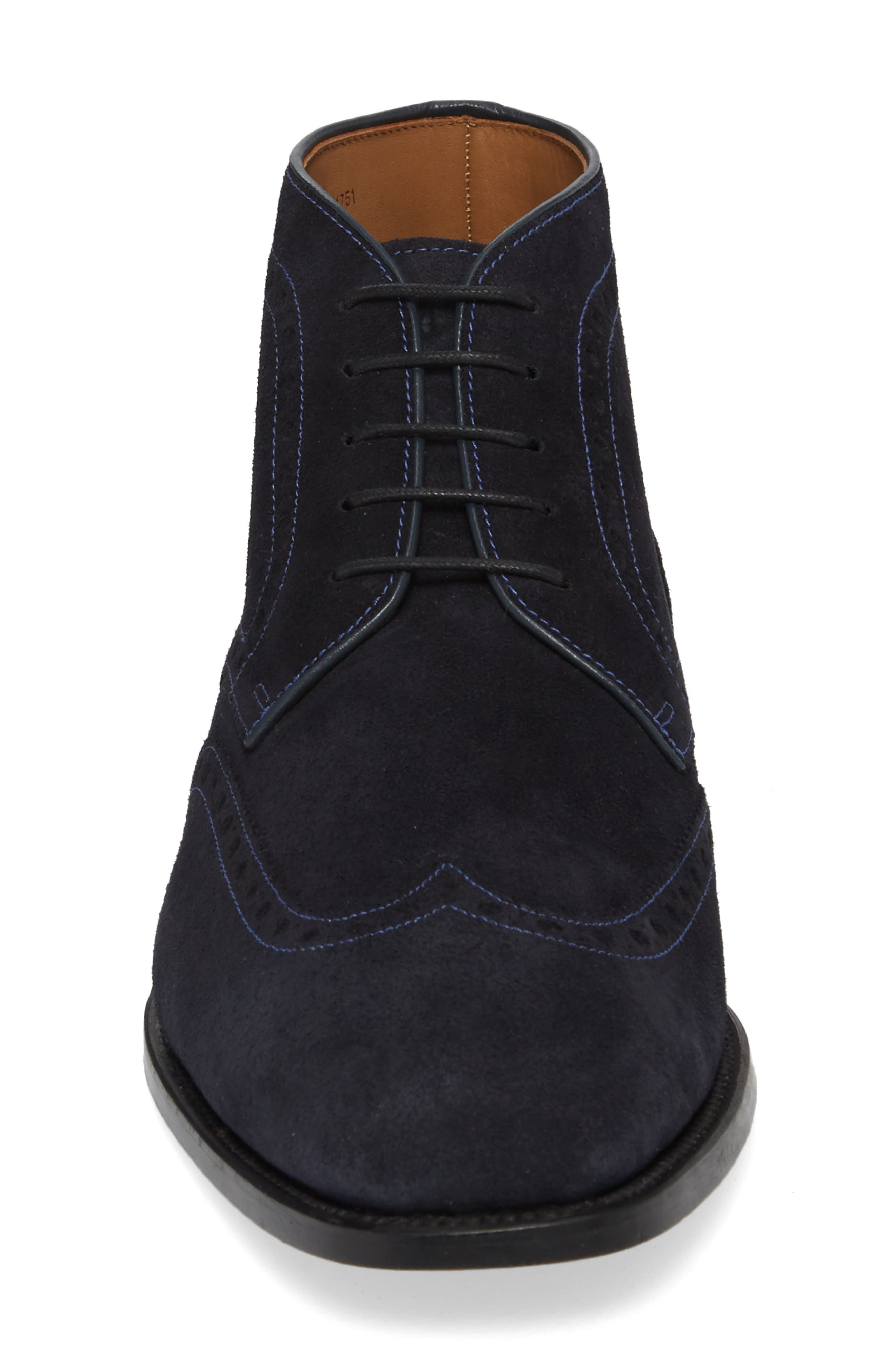 Presidio Wingtip Boot,                             Alternate thumbnail 4, color,                             NAVY