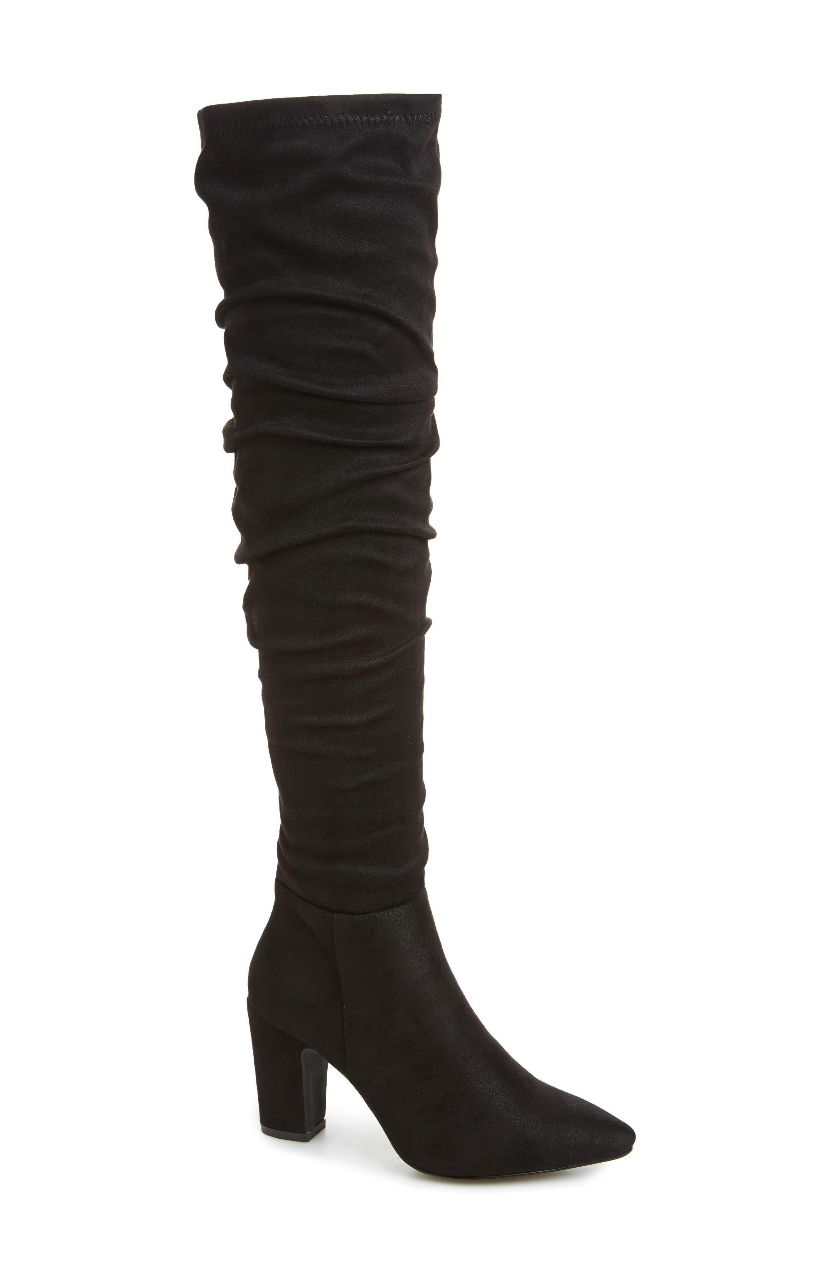 Chinese Laundry Rami Slouchy Over The Knee Boot- Black