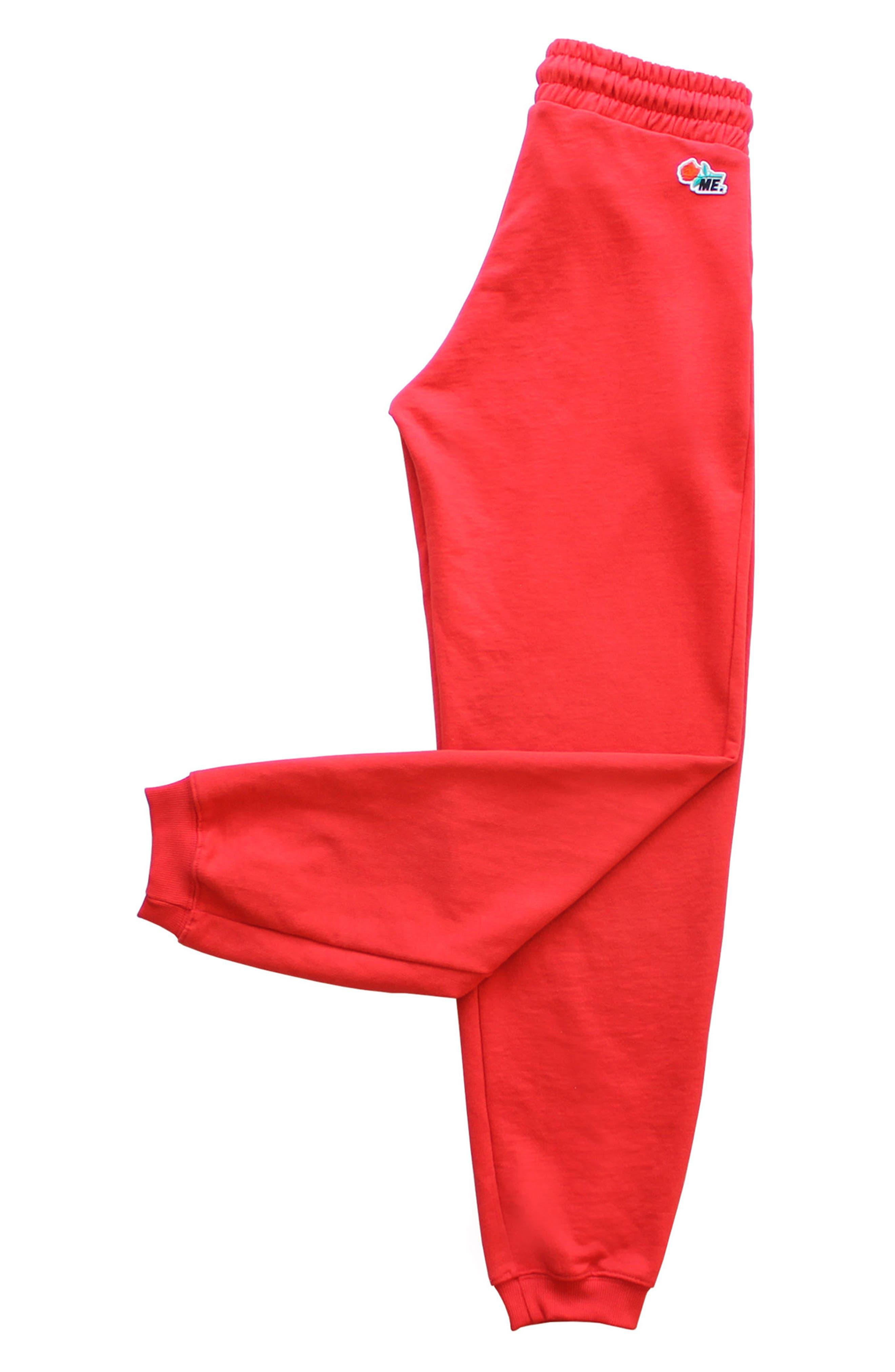 ME. Rose Sweatpants,                             Alternate thumbnail 9, color,                             CHERRY RED