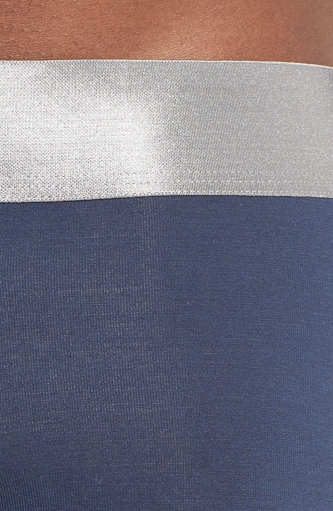 Second Skin Titanium Trunks,                             Alternate thumbnail 4, color,                             DRESS BLUES