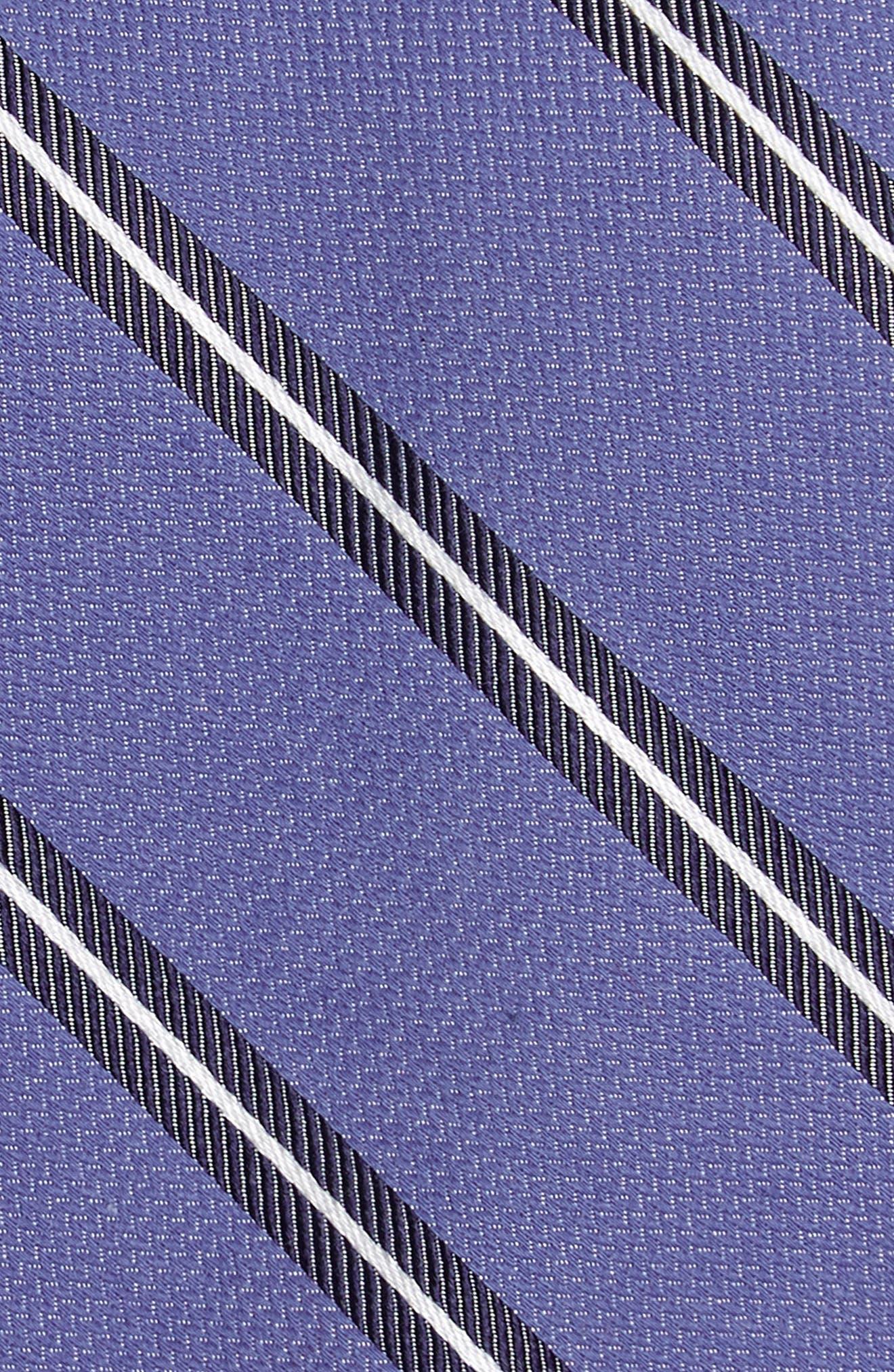 Edinger Stripe Silk & Cotton Tie,                             Alternate thumbnail 9, color,