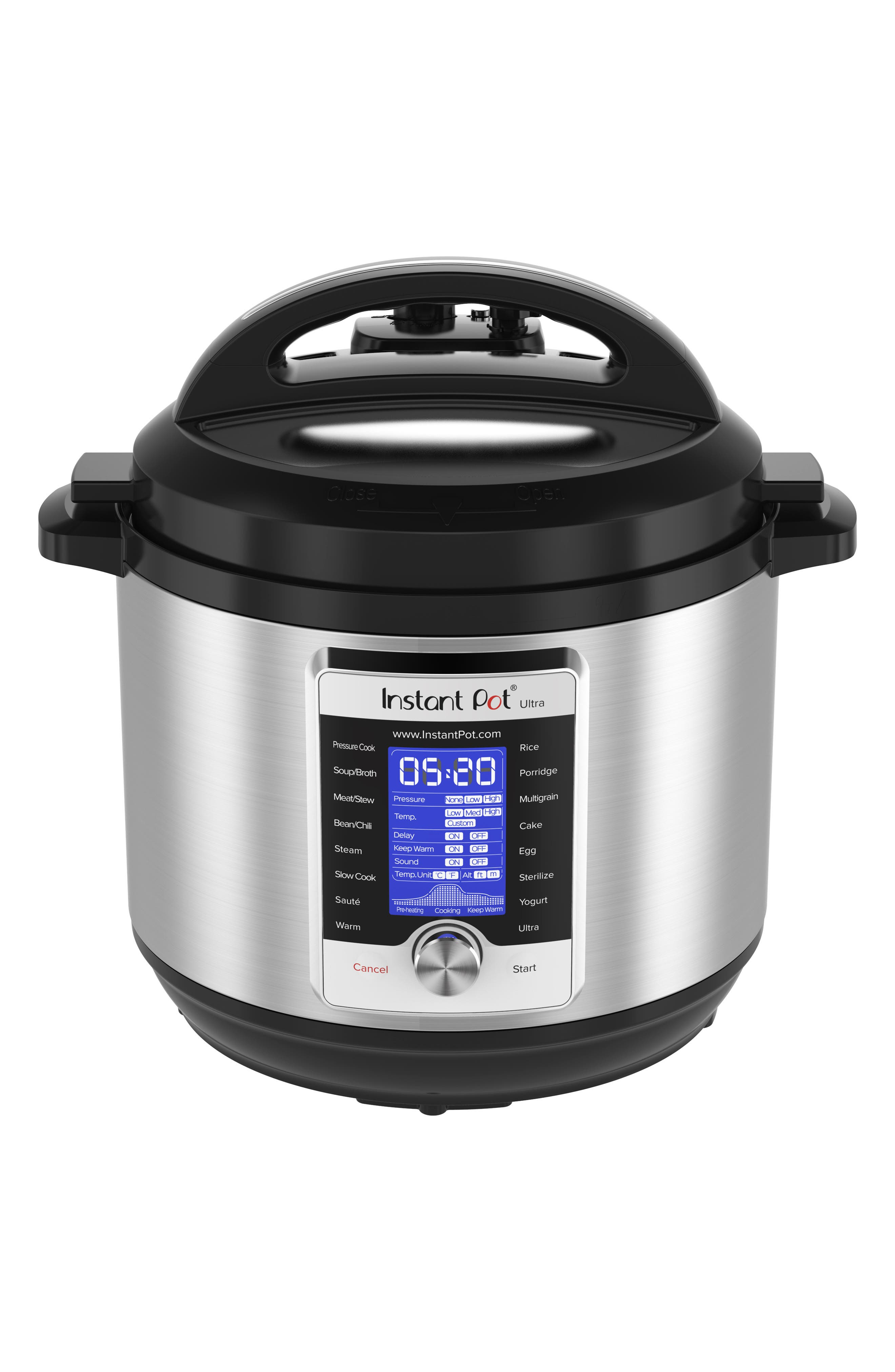Ultra 8-Quart 10-in-1 Multiuse Programmable Cooker, Main, color, SILVER