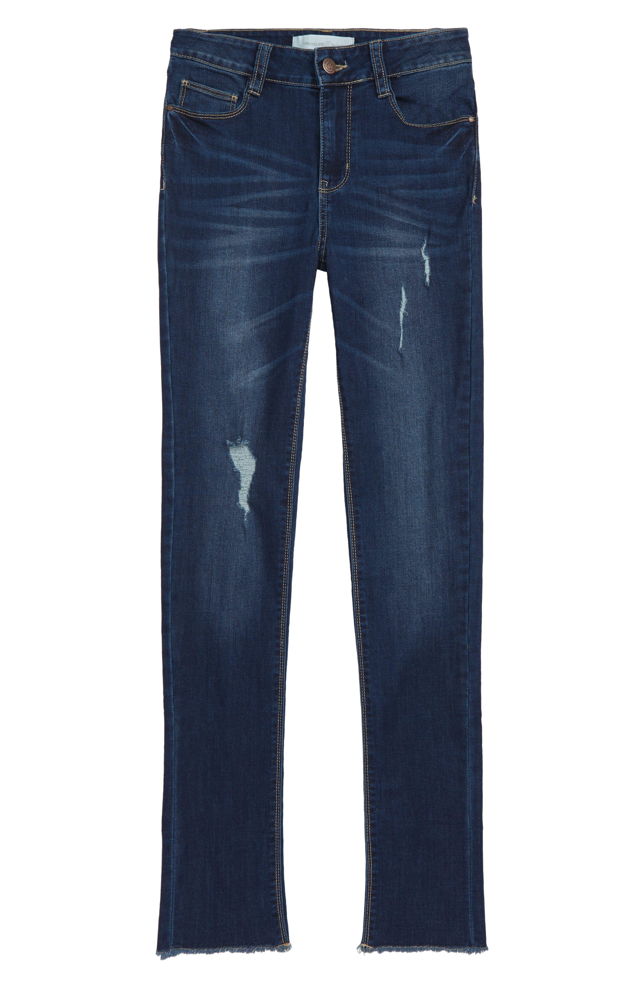 Girls Treasure  Bond Wide Cuff Stretch Jeans