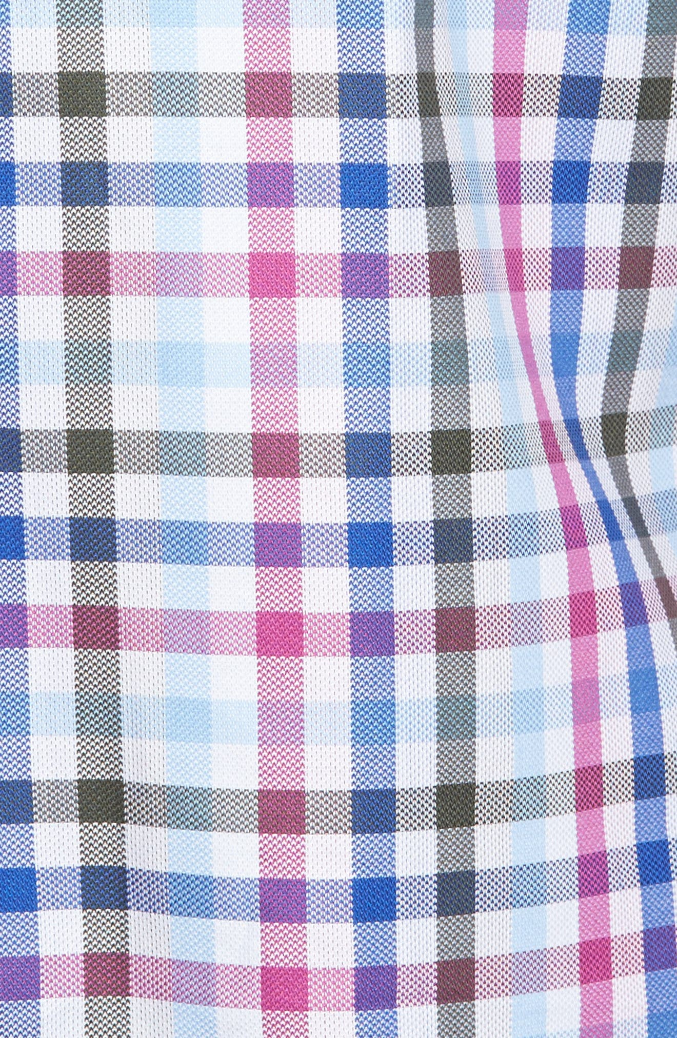 Shaped Fit Plaid Sport Shirt,                             Alternate thumbnail 5, color,                             537
