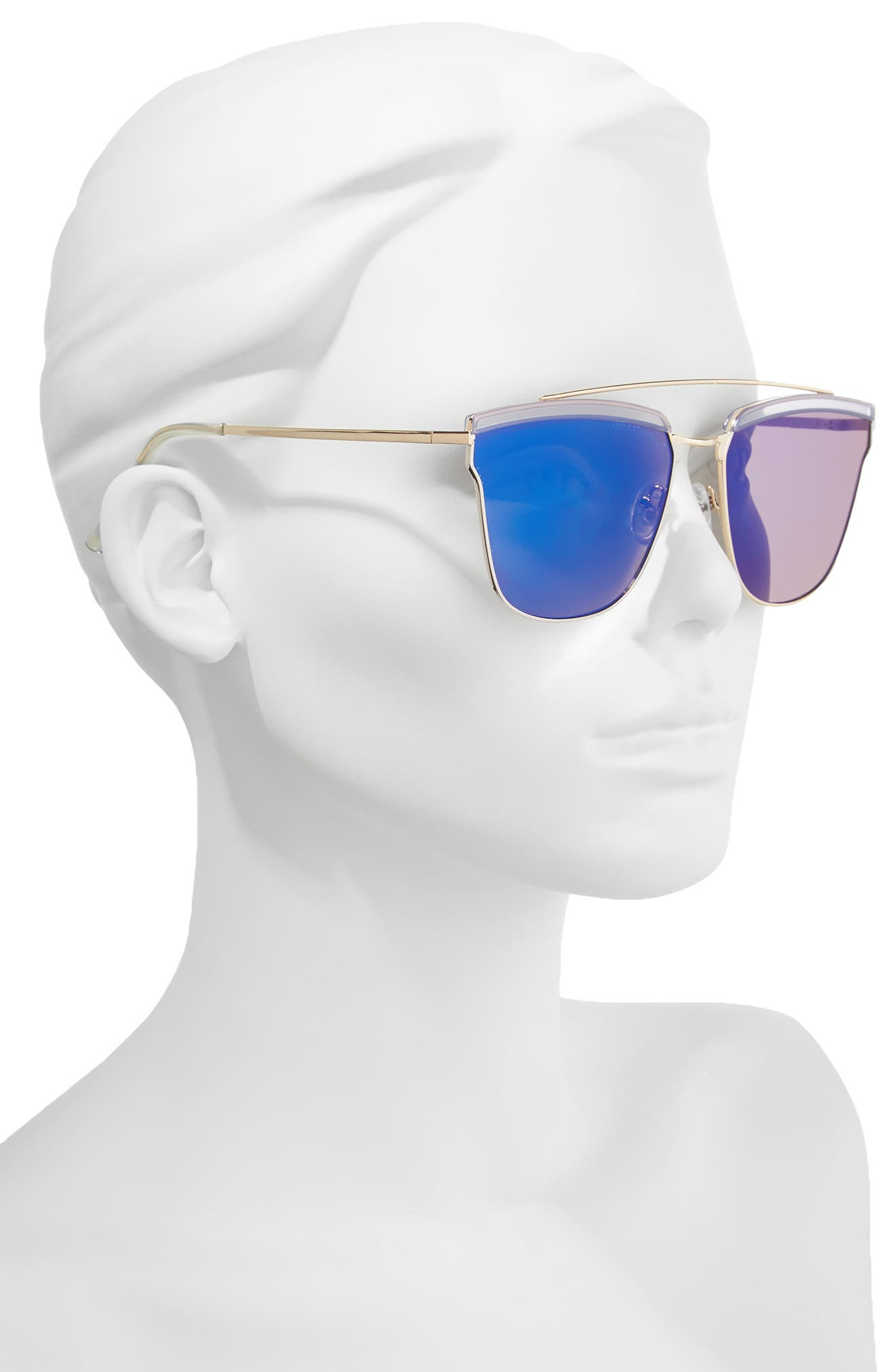 60mm Mirror Sunglasses,                             Alternate thumbnail 2, color,                             712