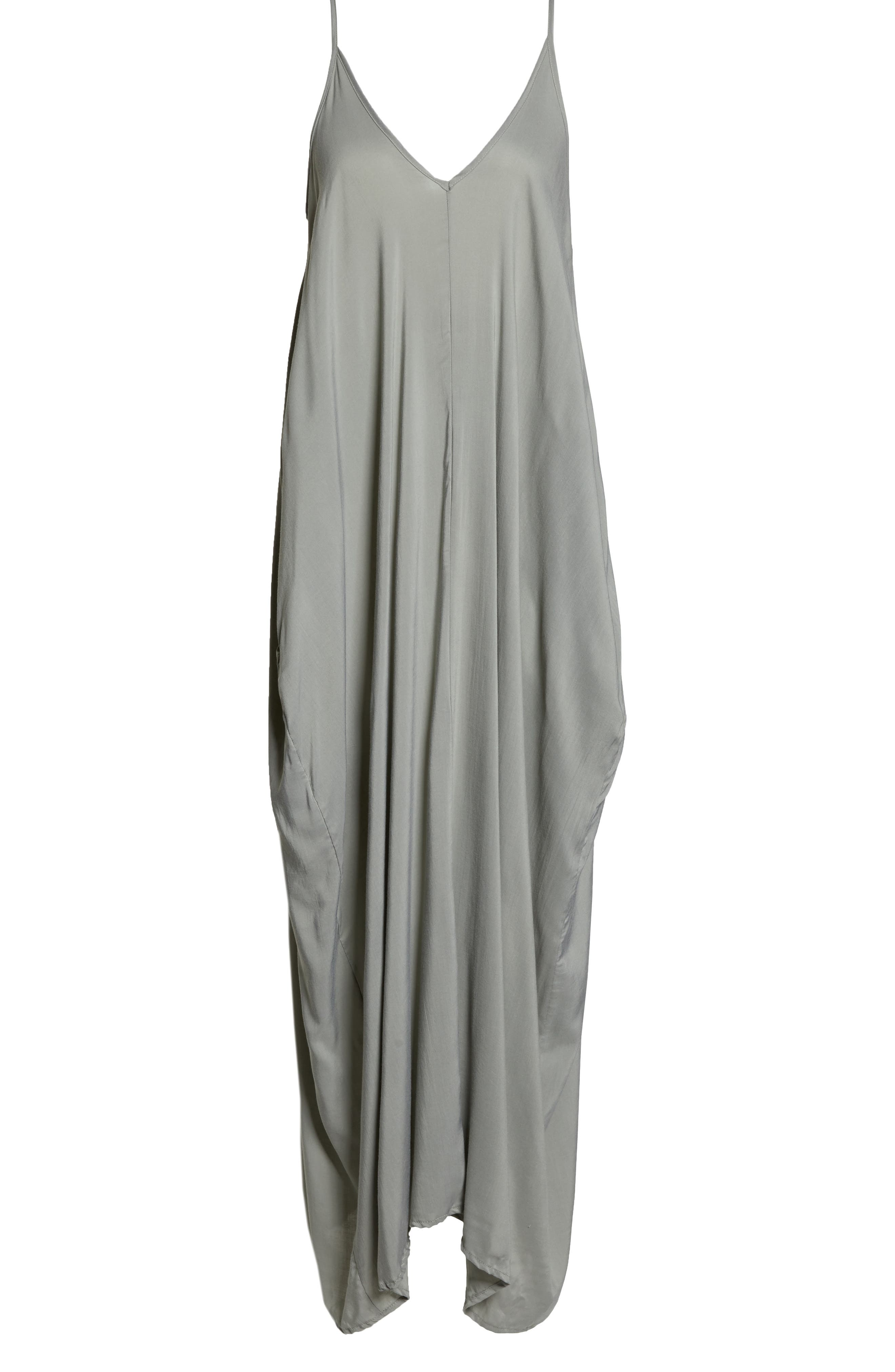 ELAN,                             V-Back Cover-Up Maxi Dress,                             Alternate thumbnail 7, color,                             SAGE