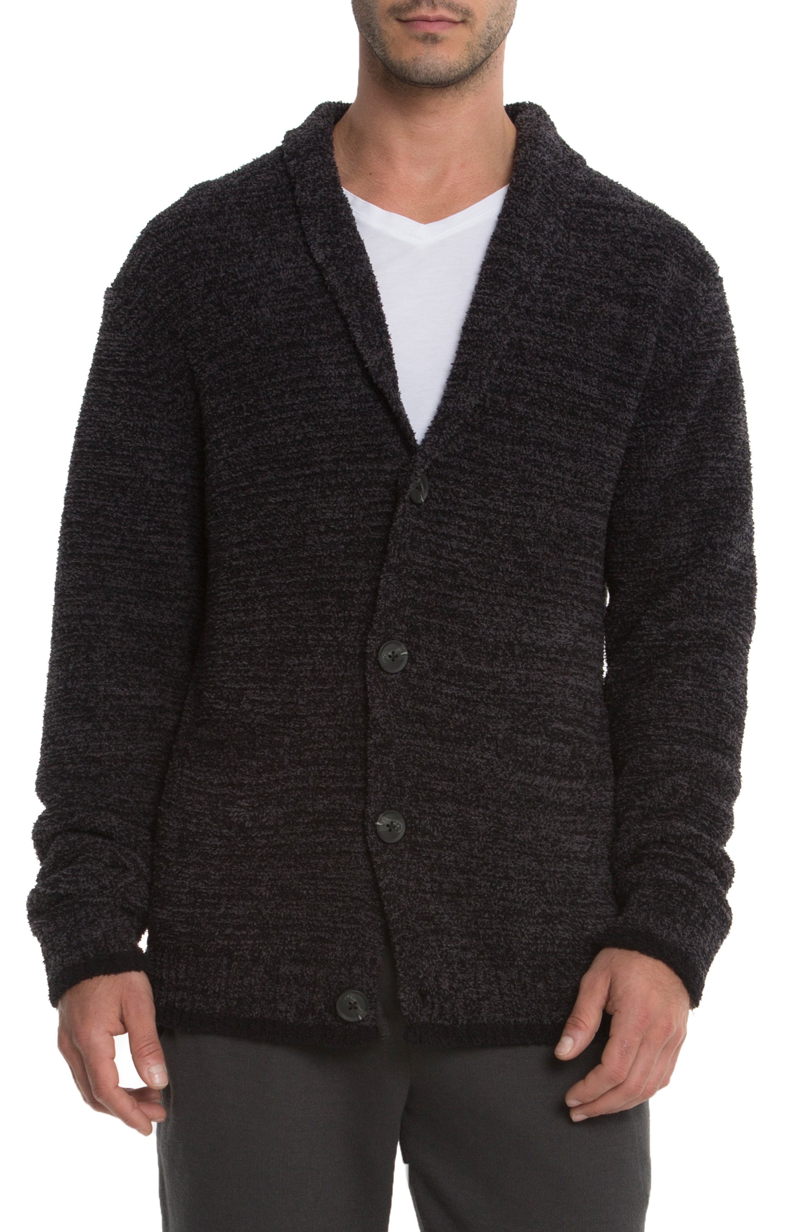 Barefoot Dreams Shawl Collar Cardigan, Grey