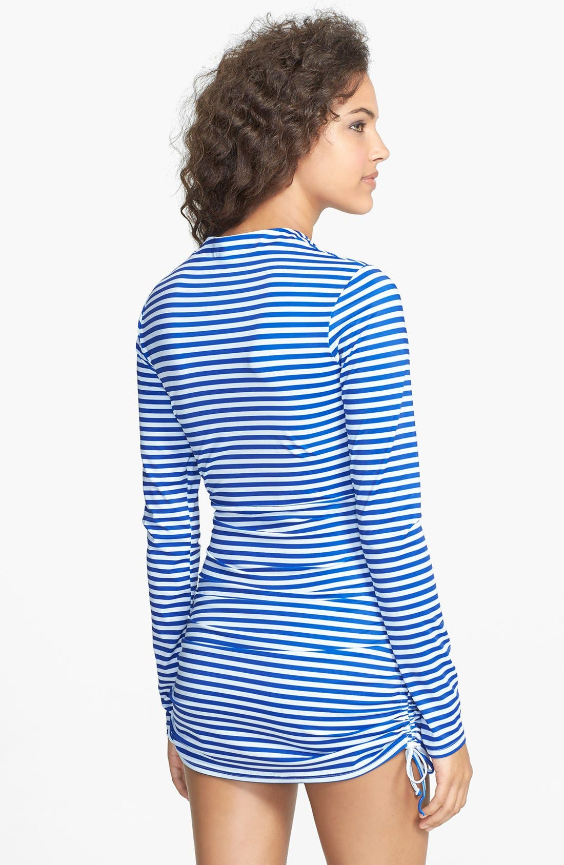 'Sonja' Long Sleeve Half Zip Convertible Swimdress,                             Alternate thumbnail 15, color,