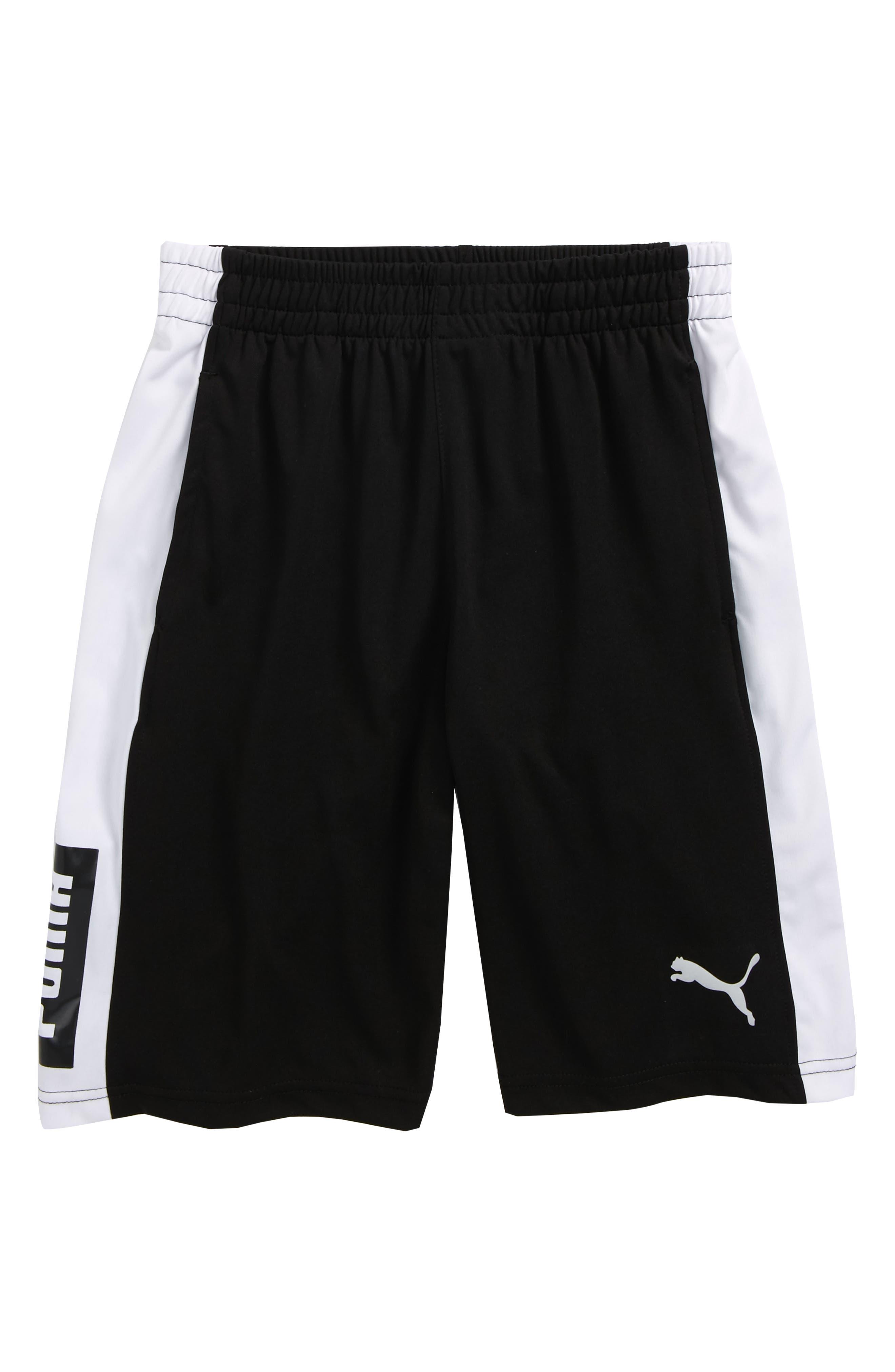 Colorblock Perforated Shorts,                             Main thumbnail 1, color,                             001