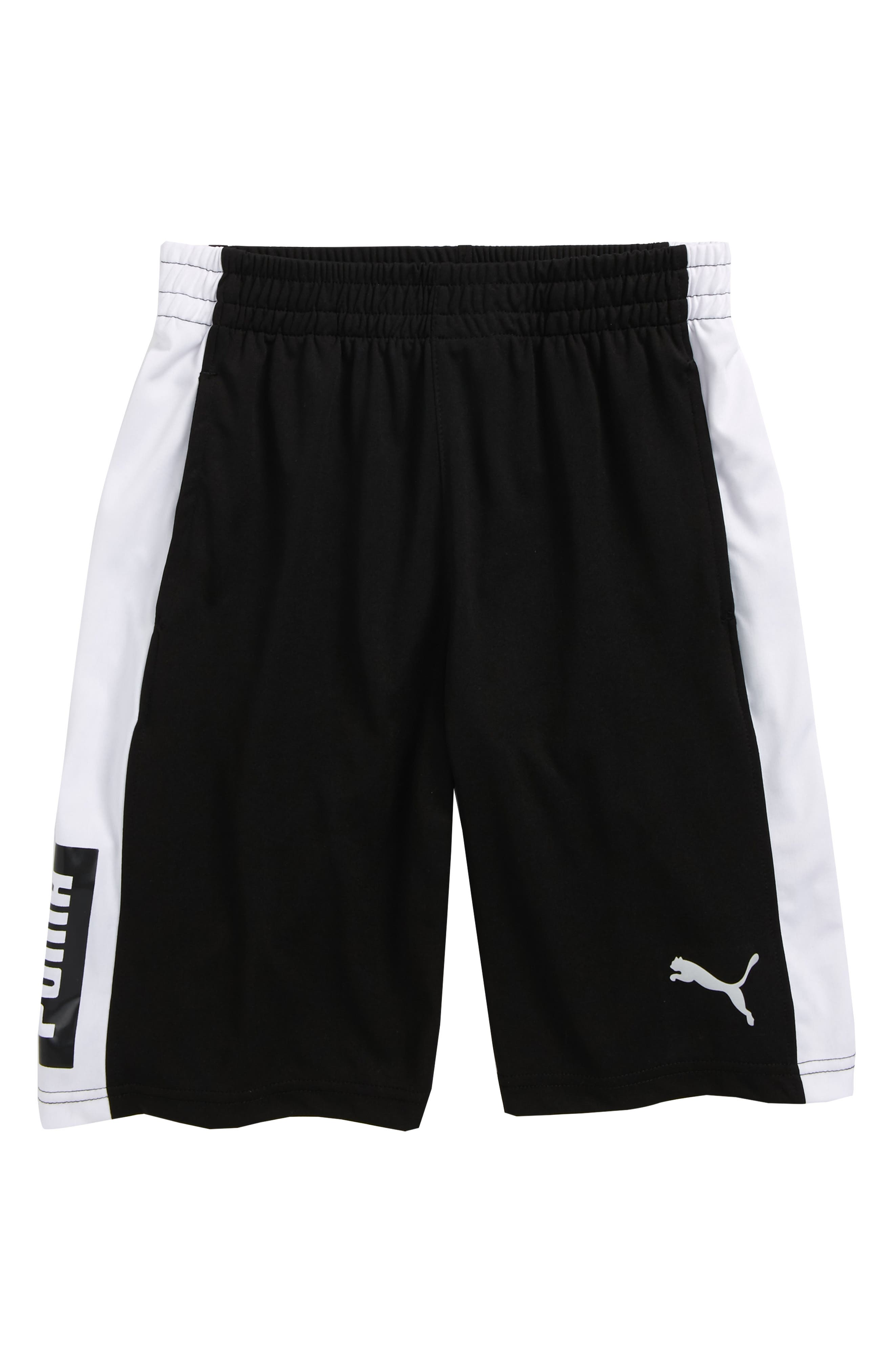 Colorblock Perforated Shorts,                         Main,                         color, 001