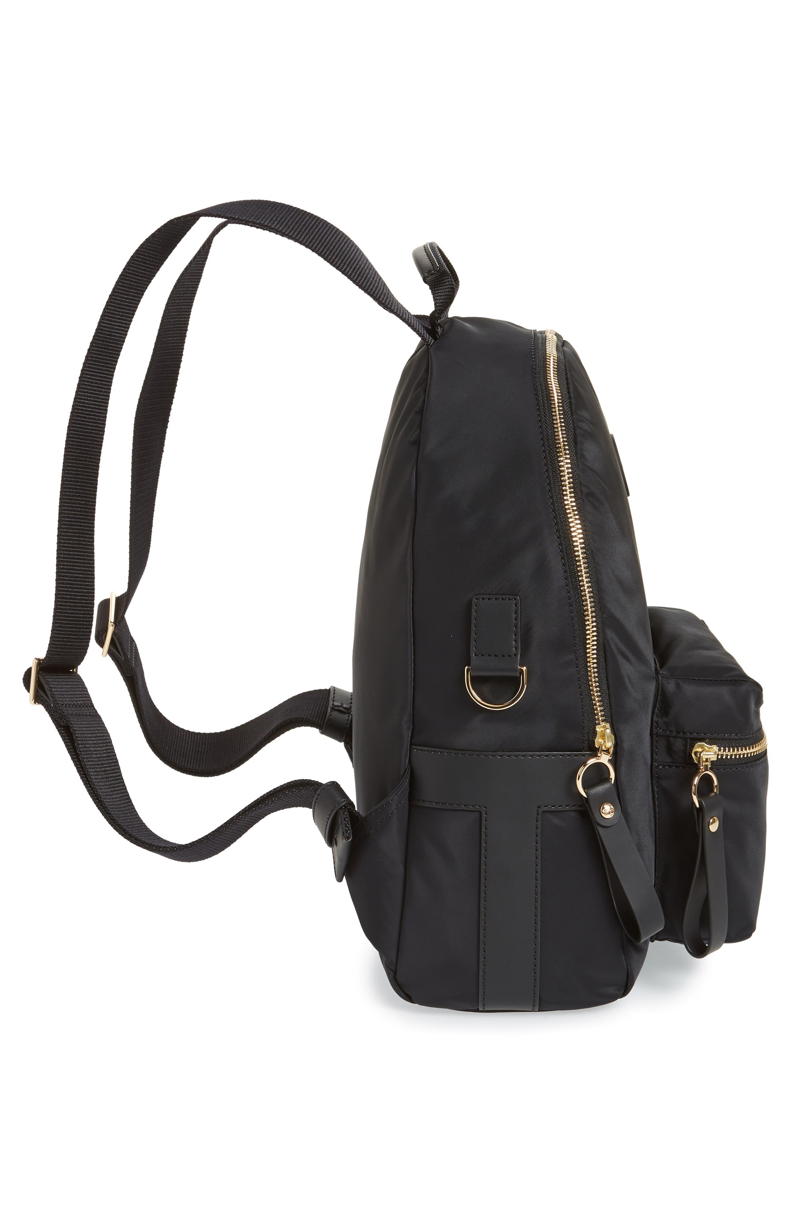 Tilda Nylon Backpack,                             Alternate thumbnail 5, color,                             001