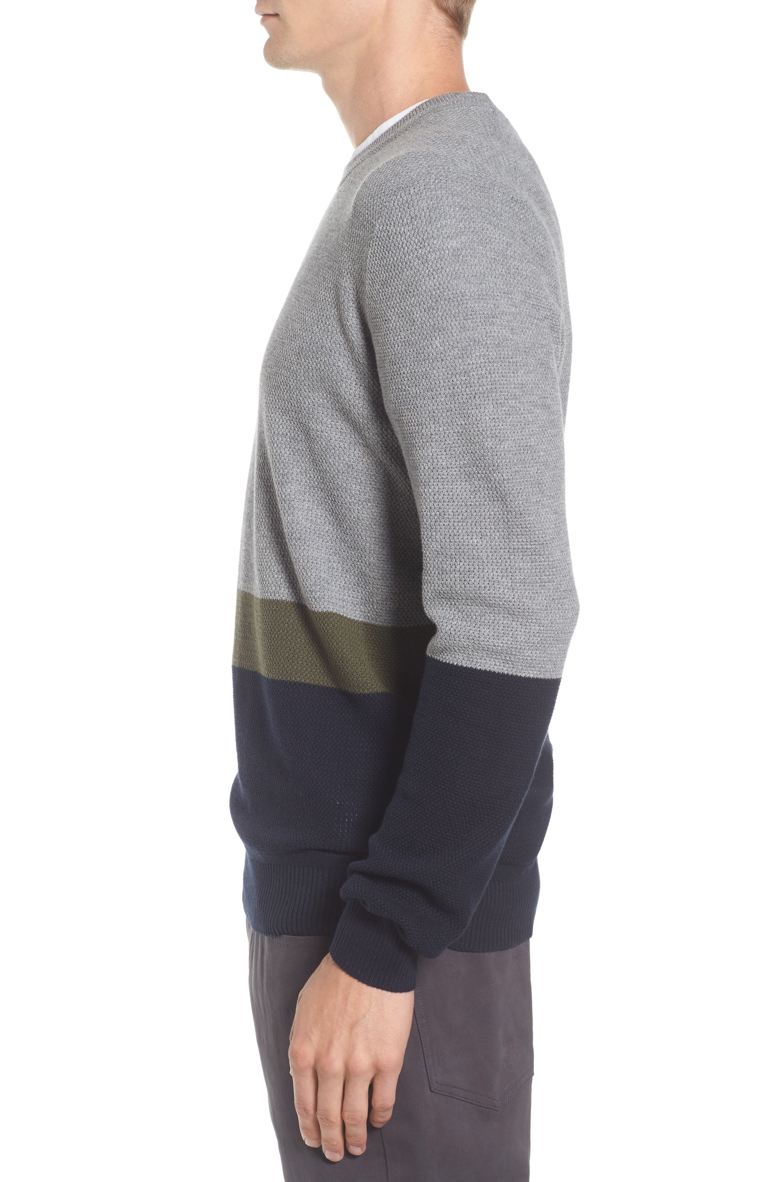 Textured Colorblock Sweater,                             Alternate thumbnail 3, color,                             036