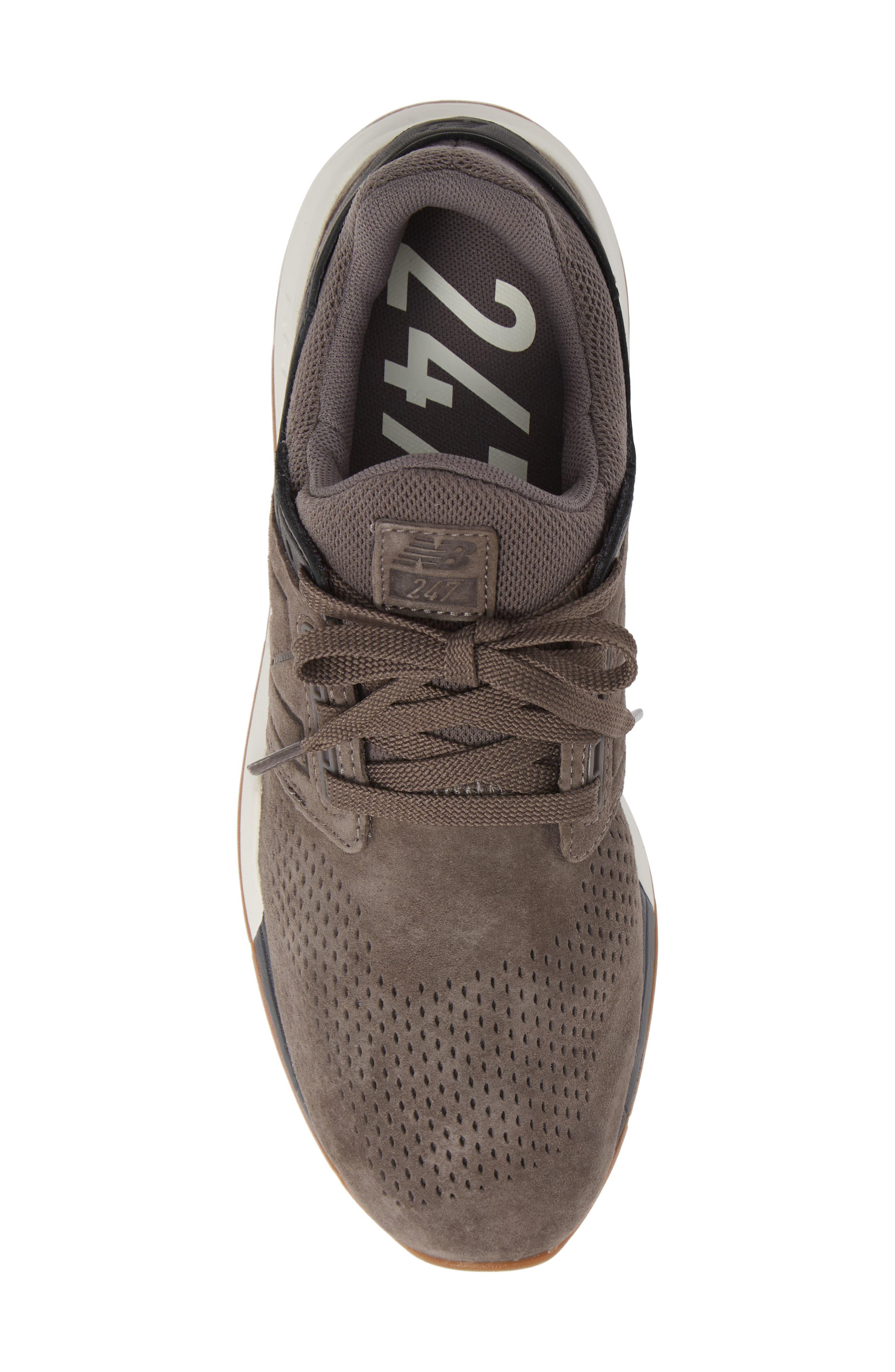 247v2 Sneaker,                             Alternate thumbnail 5, color,                             DARK GREY NUBUCK LEATHER